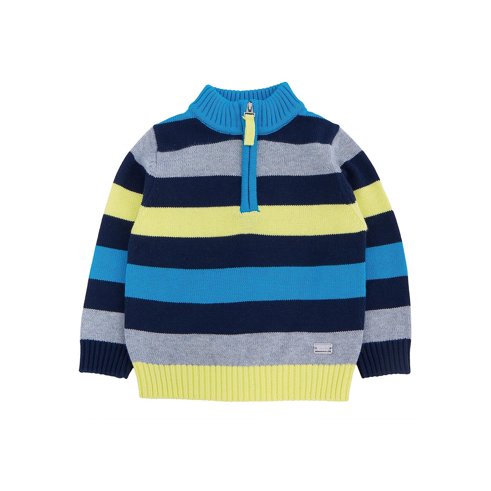 Свитер для мальчика Sweet BerryСтильный яркий свитер в широкую  полоску популярной торговой марки Sweet Berry. У модели предусмотрено  высокое горло, которое при желании  можно  чуть расстегнуть /застегнуть застежкой  молнией. Изделие выполнено из 100% хлопка, что позволяет коже ребенка дышать и в любую погоду чувствовать себя комфортно. Свитер можно сочетать с другими вещами данной марки.<br><br> Дополнительная информация:<br><br>- комплектация: свитер<br>- материал: 100% хлопок<br>- страна бренда: Италия<br>- страна производства: Китай<br>- коллекция: осень-зима 2016<br>- сезон: зима<br>- пол: для мальчиков<br>- возраст: детский<br>- цвет: синий. <br>- размер упаковки (дхшхв), 22 * 15 * 5 см<br>- вес в упаковке,  190 г<br><br>Свитер для мальчика торговой марки  Sweet Berry можно купить в нашем интернет-магазине<br><br>Ширина мм: 190<br>Глубина мм: 74<br>Высота мм: 229<br>Вес г: 236<br>Цвет: синий<br>Возраст от месяцев: 12<br>Возраст до месяцев: 15<br>Пол: Мужской<br>Возраст: Детский<br>Размер: 80,98,86,92<br>SKU: 4929767