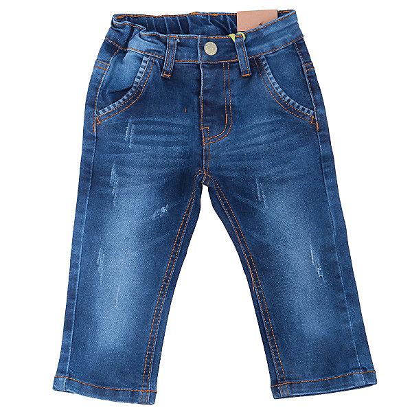 Джинсы для мальчика Sweet BerryДжинсовая одежда<br>Удобные джинсы для мальчика торговой марки Sweet Berry идеально подойдут Вашему малышу. Изготовленные из 100% хлопка, они мягкие и приятные на ощупь, не сковывают движения, сохраняют тепло и позволяют коже дышать, обеспечивая комфорт. Джинсы застегиваются на пуговицу на поясе, также имеются шлевки для ремня и ширинка на застежке-молнии. Объем пояса регулируется при помощи эластичной резинки с пуговицей изнутри. Джинсы имеют классический пятикарманный крой: спереди модель дополнена двумя втачными карманами и одним маленьким накладным кармашком, а сзади - двумя накладными карманами. Модель оформлена контрастной декоративной отстрочкой на карманах сзади и модными потертостями. Практичные, стильные джинсы,   модная расцветка и высококачественный материал позволят Вашему малышу комфортно чувствовать себя в течение дня!<br>Инструкция по уходу: стирка при температуре не выше 30°, гладить при низкой температуре, не подвергать химчистке.<br><br> Дополнительная информация:<br><br>- комплектация: джинсы для мальчика<br>- материал : 100% хлопок<br>- цвет: синий с потертостями<br>- коллекция: осень-зима 2016<br>- сезон: зима<br>- пол: для мальчика<br>- возраст: детский<br>- размер упаковки (дхшхв), 33 * 22 * 4 см<br>- вес в упаковке, 290  г<br><br>Джинсы для  мальчика торговой марки Sweet Berry  можно купить в нашем интернет-магазине<br><br>Ширина мм: 215<br>Глубина мм: 88<br>Высота мм: 191<br>Вес г: 336<br>Цвет: синий<br>Возраст от месяцев: 12<br>Возраст до месяцев: 15<br>Пол: Мужской<br>Возраст: Детский<br>Размер: 80,98,92,86<br>SKU: 4929847