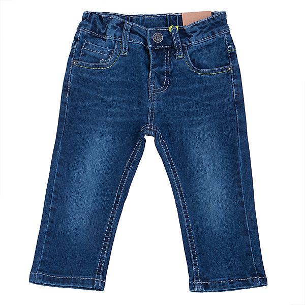 Джинсы для мальчика Sweet BerryДжинсы<br>Удобные джинсы для мальчика торговой марки Sweet Berry идеально подойдут Вашему малышу. Изготовленные из 100% хлопка, они мягкие и приятные на ощупь, не сковывают движения, сохраняют тепло дают ощущения комфорта. Джинсы застегиваются на пуговицу на поясе, также имеются шлевки для ремня и ширинка на застежке-молнии. Объем пояса регулируется при помощи эластичной резинки с пуговицей изнутри. Джинсы имеют классический пятикарманный крой: спереди модель дополнена двумя втачными карманами и одним маленьким накладным кармашком, а сзади - двумя накладными карманами. Модель оформлена контрастной декоративной отстрочкой на карманах сзади и модными потертостями. Практичные и стильные джинсы,   с модными потёртостями и высококачественным материалом подарят Вашему малышу комфорт в течение дня!<br><br> Дополнительная информация:<br><br>- комплектация: джинсы для мальчика<br>- материал : 100% хлопок<br>- цвет: синий <br>- коллекция: осень-зима 2016<br>- сезон: зима<br>- пол: для мальчика<br>- возраст: детский<br>- размер упаковки (дхшхв), 20 * 20 *5 см<br>- вес в упаковке, 230  г<br><br>Джинсы для  мальчика торговой марки Sweet Berry  можно купить в нашем интернет-магазине<br><br>Ширина мм: 215<br>Глубина мм: 88<br>Высота мм: 191<br>Вес г: 336<br>Цвет: синий<br>Возраст от месяцев: 12<br>Возраст до месяцев: 15<br>Пол: Мужской<br>Возраст: Детский<br>Размер: 80,98,92,86<br>SKU: 4929862