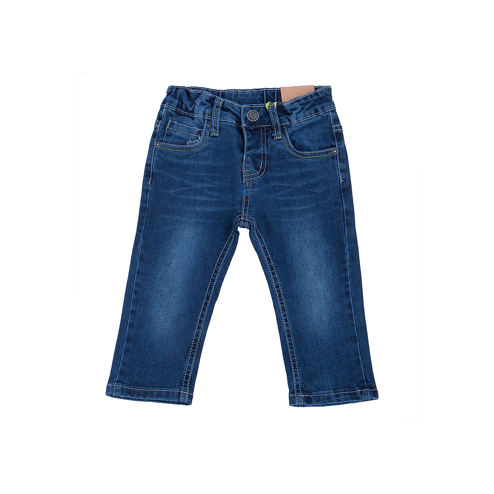 Джинсы для мальчика Sweet BerryДжинсы и брючки<br>Удобные джинсы для мальчика торговой марки Sweet Berry идеально подойдут Вашему малышу. Изготовленные из 100% хлопка, они мягкие и приятные на ощупь, не сковывают движения, сохраняют тепло дают ощущения комфорта. Джинсы застегиваются на пуговицу на поясе, также имеются шлевки для ремня и ширинка на застежке-молнии. Объем пояса регулируется при помощи эластичной резинки с пуговицей изнутри. Джинсы имеют классический пятикарманный крой: спереди модель дополнена двумя втачными карманами и одним маленьким накладным кармашком, а сзади - двумя накладными карманами. Модель оформлена контрастной декоративной отстрочкой на карманах сзади и модными потертостями. Практичные и стильные джинсы,   с модными потёртостями и высококачественным материалом подарят Вашему малышу комфорт в течение дня!<br><br> Дополнительная информация:<br><br>- комплектация: джинсы для мальчика<br>- материал : 100% хлопок<br>- цвет: синий <br>- коллекция: осень-зима 2016<br>- сезон: зима<br>- пол: для мальчика<br>- возраст: детский<br>- размер упаковки (дхшхв), 20 * 20 *5 см<br>- вес в упаковке, 230  г<br><br>Джинсы для  мальчика торговой марки Sweet Berry  можно купить в нашем интернет-магазине<br><br>Ширина мм: 215<br>Глубина мм: 88<br>Высота мм: 191<br>Вес г: 336<br>Цвет: синий<br>Возраст от месяцев: 24<br>Возраст до месяцев: 36<br>Пол: Мужской<br>Возраст: Детский<br>Размер: 98,80,86,92<br>SKU: 4929862