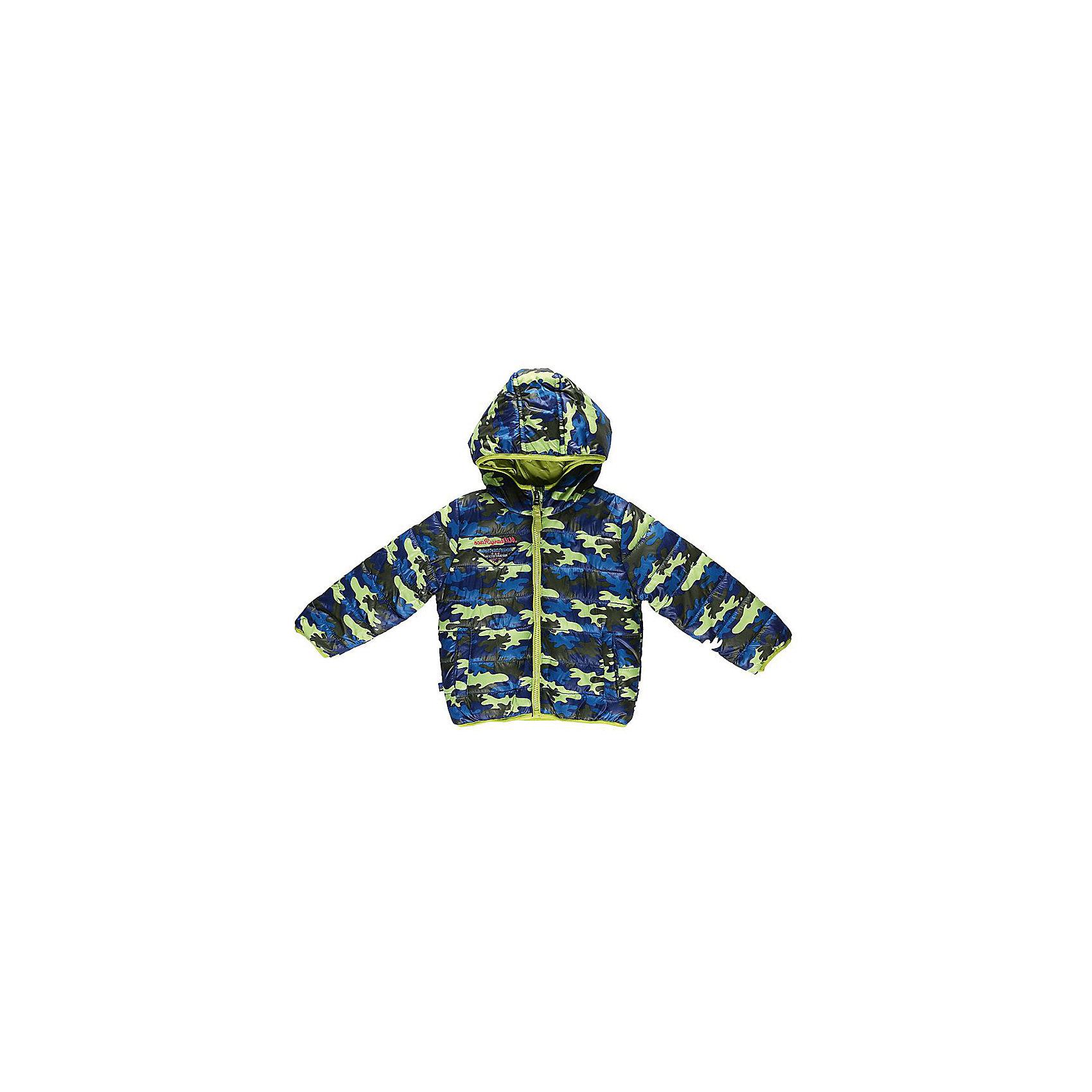 Куртка для мальчика Sweet BerryВерхняя одежда<br>Модная куртка для мальчиков, на тонком утеплителе, дополнена оригинальным шевроном. Швы проклеены. Куртка с капюшоном и небольшим воротником-стойкой застегивается на пластиковую застежку-молнию. Мягкая подкладка на воротнике и капюшоне обеспечивает дополнительный комфорт. Спереди куртка дополнена двумя  прорезными карманами на молнии. Оформлена куртка в стиле милитари.<br><br> Дополнительная информация:<br><br>- комплектация: куртка<br>- цвет: салатовый<br>- состав:  верх: 100% полиэстер, подкладка: 100% полиэстер, наполнитель: 100% полиэстер<br>- длина рукава: длинные<br>- вид застежки: молния<br>- тип карманов: прорезные<br>- покрой: прямой<br>- утеплитель: синтепух<br>- материал подкладки: флис: 100 %<br>- фактура материала: гладкий<br>- уход за вещами: бережная стирка при t не более 40с<br>- рисунок: без рисунка<br>- плотность: утеплителя: 160 г/кв.м<br>- назначение: повседневная<br>- характеристика утеплителя: fill power: 450 куб. дюйм на унцию <br>- сезон: демисезон<br>- пол: мальчики<br><br>Куртка для мальчика  торговой марки Sweet Berry можно купить в нашем интернет-магазине.<br><br>Ширина мм: 356<br>Глубина мм: 10<br>Высота мм: 245<br>Вес г: 519<br>Цвет: зеленый<br>Возраст от месяцев: 24<br>Возраст до месяцев: 36<br>Пол: Мужской<br>Возраст: Детский<br>Размер: 98,80,86,92<br>SKU: 4929867