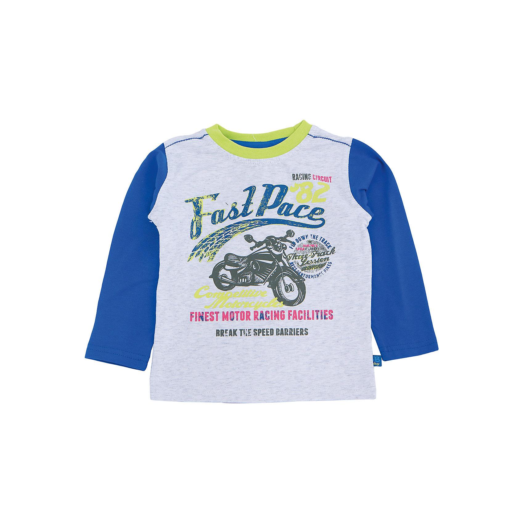 Футболка с длинным рукавом для мальчика Sweet BerryТакая футболка с длинным рукавом для мальчика отличается модным дизайном с ярким принтом. Удачный крой обеспечит ребенку комфорт и тепло. Горловина изделия обработана мягкой резинкой, поэтому вещь плотно прилегает к телу там, где нужно, и отлично сидит по фигуре.<br>Одежда от бренда Sweet Berry - это простой и выгодный способ одеть ребенка удобно и стильно. Всё изделия тщательно проработаны: швы - прочные, материал - качественный, фурнитура - подобранная специально для детей. <br><br>Дополнительная информация:<br><br>цвет: серый;<br>материал: 95% хлопок, 5% эластан;<br>декорирована принтом.<br><br>Футболку с длинным рукавом для мальчика от бренда Sweet Berry можно купить в нашем интернет-магазине.<br><br>Ширина мм: 230<br>Глубина мм: 40<br>Высота мм: 220<br>Вес г: 250<br>Цвет: серый<br>Возраст от месяцев: 24<br>Возраст до месяцев: 36<br>Пол: Мужской<br>Возраст: Детский<br>Размер: 98,80,86,92<br>SKU: 4929897