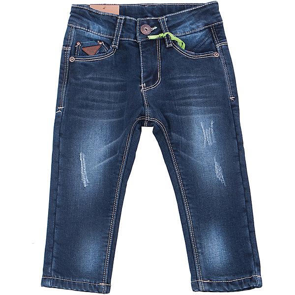 Джинсы для мальчика Sweet BerryДжинсовая одежда<br>Такая модель джинсов для мальчика отличается модным дизайном с контрастной прострочкой. Удачный крой обеспечит ребенку комфорт и тепло. Мягкая и теплая хлопковая подкладка делает вещь идеальной для прохладной погоды. Она плотно прилегает к телу там, где нужно, и отлично сидит по фигуре. Джинсы имеют регулировку размера на талии и удобные карманы.<br><br>Одежда от бренда Sweet Berry - это простой и выгодный способ одеть ребенка удобно и стильно. Всё изделия тщательно проработаны: швы - прочные, материал - качественный, фурнитура - подобранная специально для детей. <br><br>Дополнительная информация:<br><br>цвет: синий;<br>имитация потертостей;<br>материал: верх - 98% хлопок, 2% эластан, подкладка - 100% полиэстер;<br>внутри на поясе - регулировка размера;<br>карманы.<br><br>Джинсы для мальчика от бренда Sweet Berry можно купить в нашем интернет-магазине.<br><br>Ширина мм: 215<br>Глубина мм: 88<br>Высота мм: 191<br>Вес г: 336<br>Цвет: синий<br>Возраст от месяцев: 12<br>Возраст до месяцев: 15<br>Пол: Мужской<br>Возраст: Детский<br>Размер: 80,98,92,86<br>SKU: 4929932