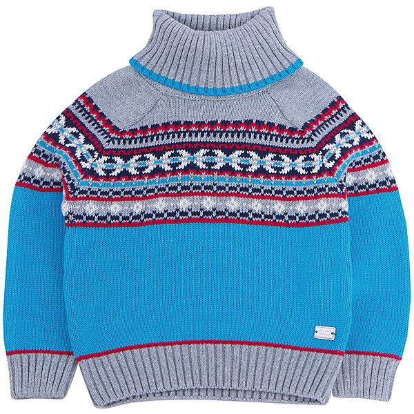 Свитер для мальчика Sweet BerryТолстовки, свитера, кардиганы<br>Эта модель свитера для мальчика отличается модным дизайном с оригинальным узором. Удачный крой обеспечит ребенку комфорт и тепло. Края изделия обработаны мягкой резинкой , горло - высокое, поэтому вещь плотно прилегает к телу там, где нужно, и отлично сидит по фигуре. Натуральный хлопок обеспечит коже возможность дышать и не вызовет аллергии.<br><br>Одежда от бренда Sweet Berry - это простой и выгодный способ одеть ребенка удобно и стильно. Всё изделия тщательно проработаны: швы - прочные, материал - качественный, фурнитура - подобранная специально для детей. <br><br>Дополнительная информация:<br><br>цвет: синий;<br>материал: 100% хлопок;<br>высокое горло;<br>декорирован узором.<br><br>Свитер для мальчика от бренда Sweet Berry можно купить в нашем интернет-магазине.<br><br>Ширина мм: 190<br>Глубина мм: 74<br>Высота мм: 229<br>Вес г: 236<br>Цвет: синий<br>Возраст от месяцев: 24<br>Возраст до месяцев: 36<br>Пол: Мужской<br>Возраст: Детский<br>Размер: 98,80,92,86<br>SKU: 4929937