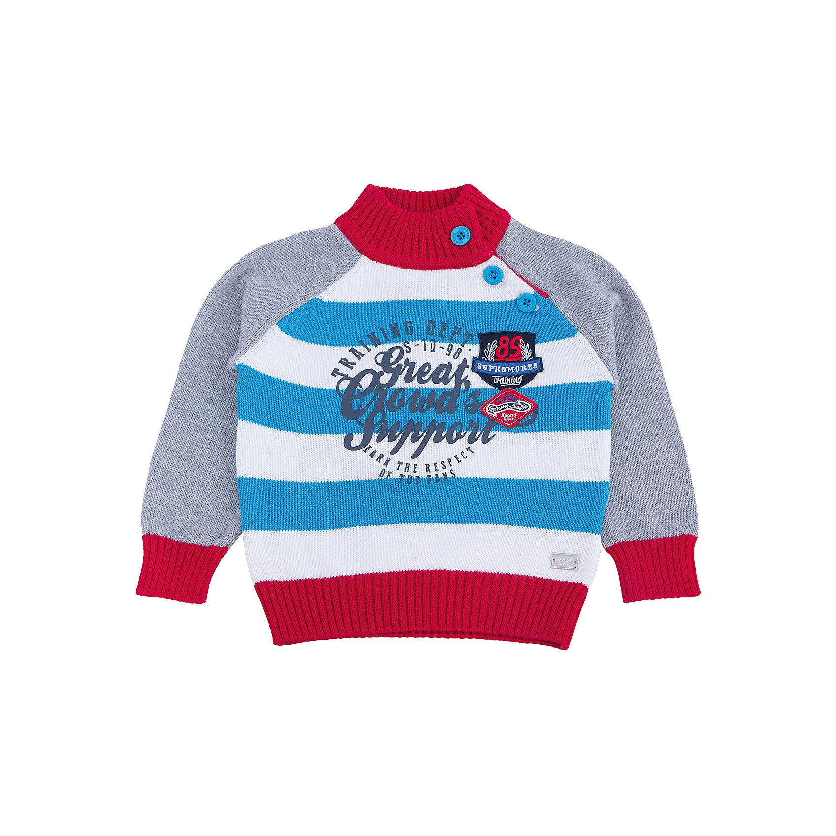 Свитер для мальчика Sweet BerryСвитера и кардиганы<br>Эта модель свитера для мальчика отличается модным дизайном с оригинальным принтом. Удачный крой обеспечит ребенку комфорт и тепло. Края изделия обработаны мягкой резинкой , горло - высокое, поэтому вещь плотно прилегает к телу там, где нужно, и отлично сидит по фигуре. Натуральный хлопок обеспечит коже возможность дышать и не вызовет аллергии.<br><br>Одежда от бренда Sweet Berry - это простой и выгодный способ одеть ребенка удобно и стильно. Всё изделия тщательно проработаны: швы - прочные, материал - качественный, фурнитура - подобранная специально для детей. <br><br>Дополнительная информация:<br><br>цвет: серый;<br>материал: 100% хлопок;<br>высокое горло;<br>декорирован принтом.<br><br>Свитер для мальчика от бренда Sweet Berry можно купить в нашем интернет-магазине.<br><br>Ширина мм: 190<br>Глубина мм: 74<br>Высота мм: 229<br>Вес г: 236<br>Цвет: серый<br>Возраст от месяцев: 24<br>Возраст до месяцев: 36<br>Пол: Мужской<br>Возраст: Детский<br>Размер: 98,80,86,92<br>SKU: 4929942