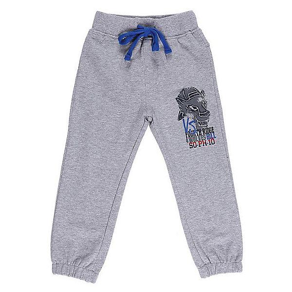 Брюки для мальчика Sweet BerryБрюки<br>Спортивные брюки для мальчиков. Эластичный пояс с внутренней резинкой, с дополнительным хлопковым шнурком. Украшены принтом.<br>Состав:<br>95% хлопок 5% эластан<br><br>Ширина мм: 215<br>Глубина мм: 88<br>Высота мм: 191<br>Вес г: 336<br>Цвет: серый<br>Возраст от месяцев: 12<br>Возраст до месяцев: 15<br>Пол: Мужской<br>Возраст: Детский<br>Размер: 80,98,92,86<br>SKU: 4929982