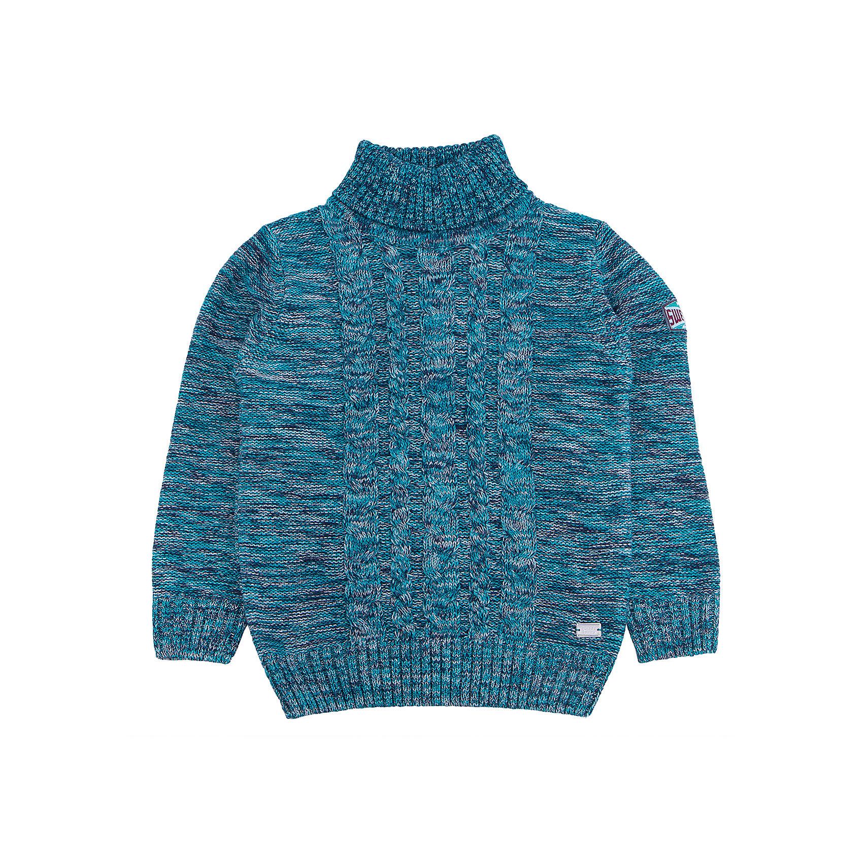 Свитер для мальчика Sweet BerryСвитера и кардиганы<br>Эта модель свитера для мальчика отличается модным дизайном с оригинальным узором. Удачный крой обеспечит ребенку комфорт и тепло. Края изделия обработаны мягкой резинкой , горло - высокое, поэтому вещь плотно прилегает к телу там, где нужно, и отлично сидит по фигуре. Натуральный хлопок в составе пряжи обеспечит коже возможность дышать и не вызовет аллергии.<br>Одежда от бренда Sweet Berry - это простой и выгодный способ одеть ребенка удобно и стильно. Всё изделия тщательно проработаны: швы - прочные, материал - качественный, фурнитура - подобранная специально для детей. <br><br>Дополнительная информация:<br><br>цвет: зеленый;<br>материал: 60% хлопок, 40% акрил;<br>высокое горло;<br>декорирован узором косы.<br><br>Свитер для мальчика от бренда Sweet Berry можно купить в нашем интернет-магазине.<br><br>Ширина мм: 190<br>Глубина мм: 74<br>Высота мм: 229<br>Вес г: 236<br>Цвет: зеленый<br>Возраст от месяцев: 72<br>Возраст до месяцев: 84<br>Пол: Мужской<br>Возраст: Детский<br>Размер: 122,110,116,128,98,104<br>SKU: 4930023