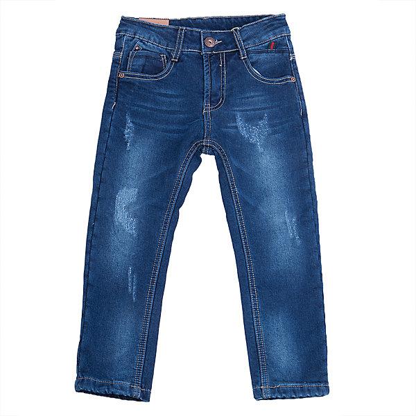 Джинсы для мальчика Sweet BerryДжинсовая одежда<br>Такая модель джинсов для мальчика отличается модным дизайном с контрастной прострочкой. Удачный крой обеспечит ребенку комфорт и тепло. Мягкая и теплая хлопковая подкладка делает вещь идеальной для прохладной погоды. Она плотно прилегает к телу там, где нужно, и отлично сидит по фигуре. Джинсы имеют регулировку размера на талии и удобные карманы.<br>Одежда от бренда Sweet Berry - это простой и выгодный способ одеть ребенка удобно и стильно. Всё изделия тщательно проработаны: швы - прочные, материал - качественный, фурнитура - подобранная специально для детей. <br><br>Дополнительная информация:<br><br>цвет: синий;<br>имитация потертостей;<br>материал: верх - 98% хлопок, 2% эластан, подкладка - 100% полиэстер;<br>внутри на поясе - регулировка размера;<br>карманы.<br><br>Джинсы для мальчика от бренда Sweet Berry можно купить в нашем интернет-магазине.<br>Ширина мм: 215; Глубина мм: 88; Высота мм: 191; Вес г: 336; Цвет: синий; Возраст от месяцев: 36; Возраст до месяцев: 48; Пол: Мужской; Возраст: Детский; Размер: 104,98,128,122,116,110; SKU: 4930037;