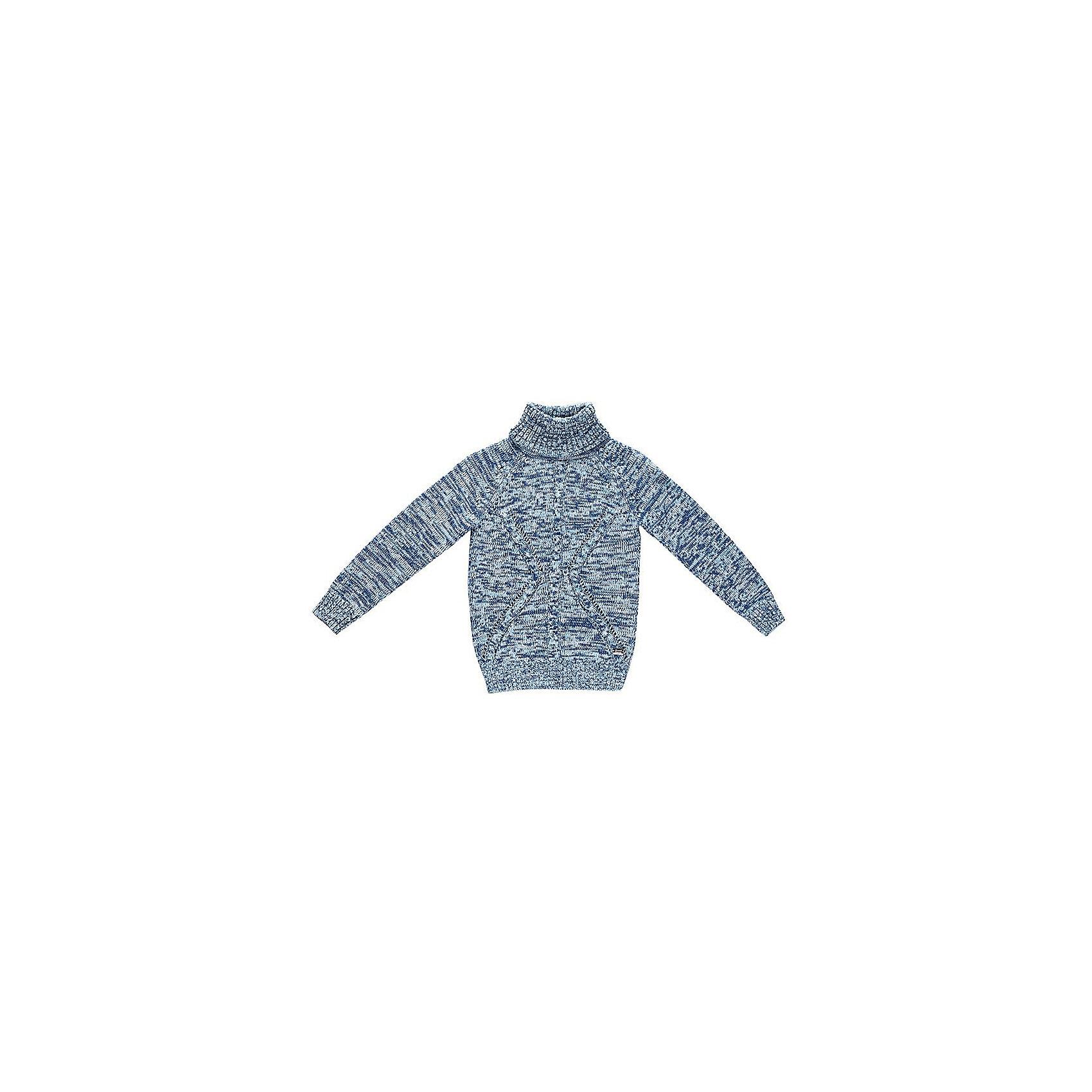 Свитер для мальчика Sweet BerryСвитера и кардиганы<br>Эта модель свитера для мальчика отличается модным дизайном с оригинальным узором. Удачный крой обеспечит ребенку комфорт и тепло. Края изделия обработаны мягкой резинкой , горло - высокое, поэтому вещь плотно прилегает к телу там, где нужно, и отлично сидит по фигуре. Натуральный хлопок в составе пряжи обеспечит коже возможность дышать и не вызовет аллергии.<br>Одежда от бренда Sweet Berry - это простой и выгодный способ одеть ребенка удобно и стильно. Всё изделия тщательно проработаны: швы - прочные, материал - качественный, фурнитура - подобранная специально для детей. <br><br>Дополнительная информация:<br><br>цвет: голубой;<br>материал: 60% хлопок, 40% акрил;<br>высокое горло;<br>декорирован узором косы.<br><br>Свитер для мальчика от бренда Sweet Berry можно купить в нашем интернет-магазине.<br><br>Ширина мм: 190<br>Глубина мм: 74<br>Высота мм: 229<br>Вес г: 236<br>Цвет: голубой<br>Возраст от месяцев: 48<br>Возраст до месяцев: 60<br>Пол: Мужской<br>Возраст: Детский<br>Размер: 110,98,104,116,122,128<br>SKU: 4930466