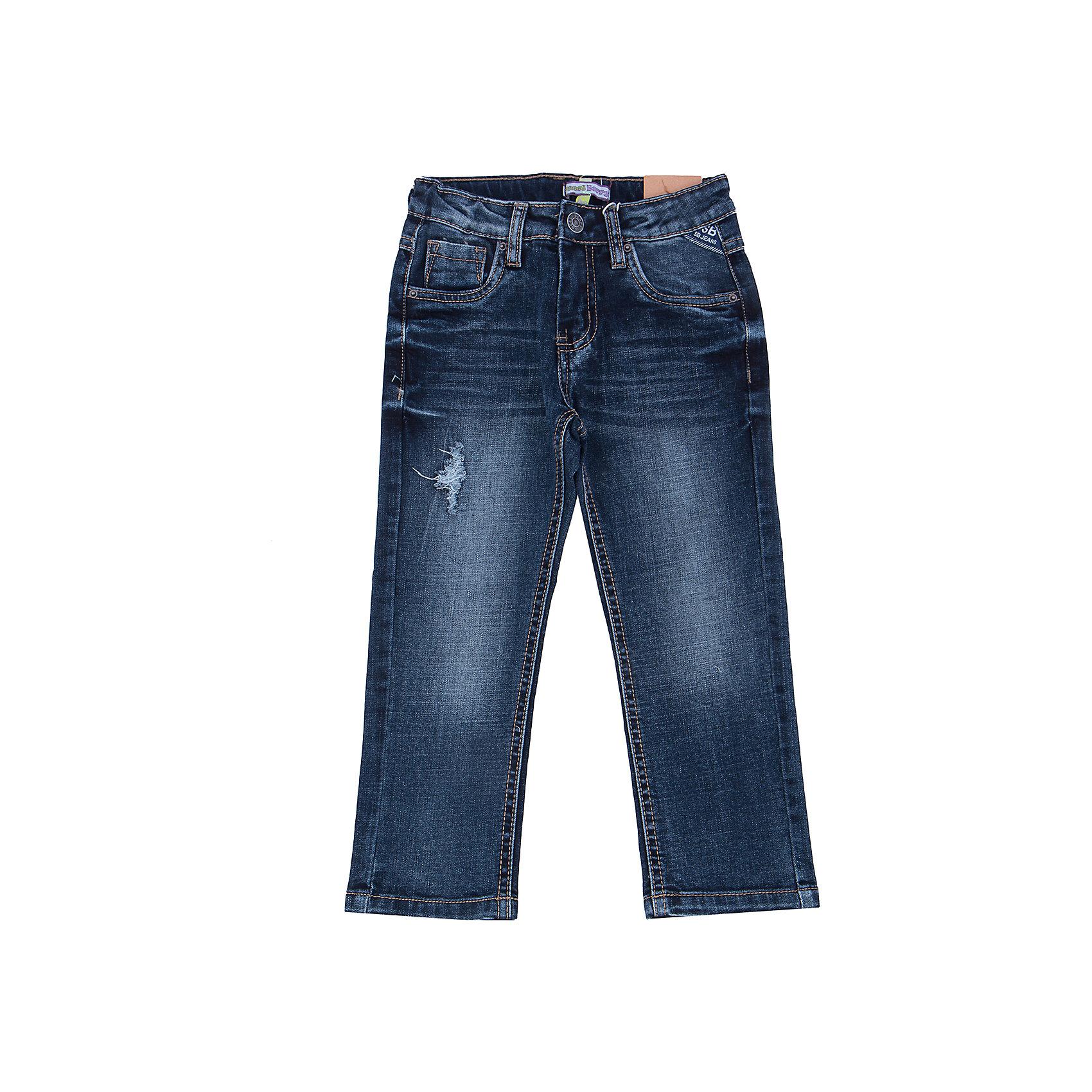 Джинсы для мальчика Sweet BerryТакая модель джинсов для мальчика отличается модным дизайном с контрастной прострочкой. Удачный крой обеспечит ребенку комфорт и тепло.Плотная ткань делает вещь идеальной для прохладной погоды. Она хорошо прилегает к телу там, где нужно, и отлично сидит по фигуре. Джинсы имеют регулировку размера на талии. Натуральный хлопок в составе ткани обеспечит коже возможность дышать и не вызовет аллергии.<br>Одежда от бренда Sweet Berry - это простой и выгодный способ одеть ребенка удобно и стильно. Всё изделия тщательно проработаны: швы - прочные, материал - качественный, фурнитура - подобранная специально для детей. <br><br>Дополнительная информация:<br><br>цвет: синий;<br>имитация потертостей;<br>материал: 98% хлопок, 2% эластан;<br>внутри на поясе - регулировка размера.<br><br>Джинсы для мальчика от бренда Sweet Berry можно купить в нашем интернет-магазине.<br><br>Ширина мм: 215<br>Глубина мм: 88<br>Высота мм: 191<br>Вес г: 336<br>Цвет: синий<br>Возраст от месяцев: 24<br>Возраст до месяцев: 36<br>Пол: Мужской<br>Возраст: Детский<br>Размер: 98,104,110,116,122,128<br>SKU: 4930494