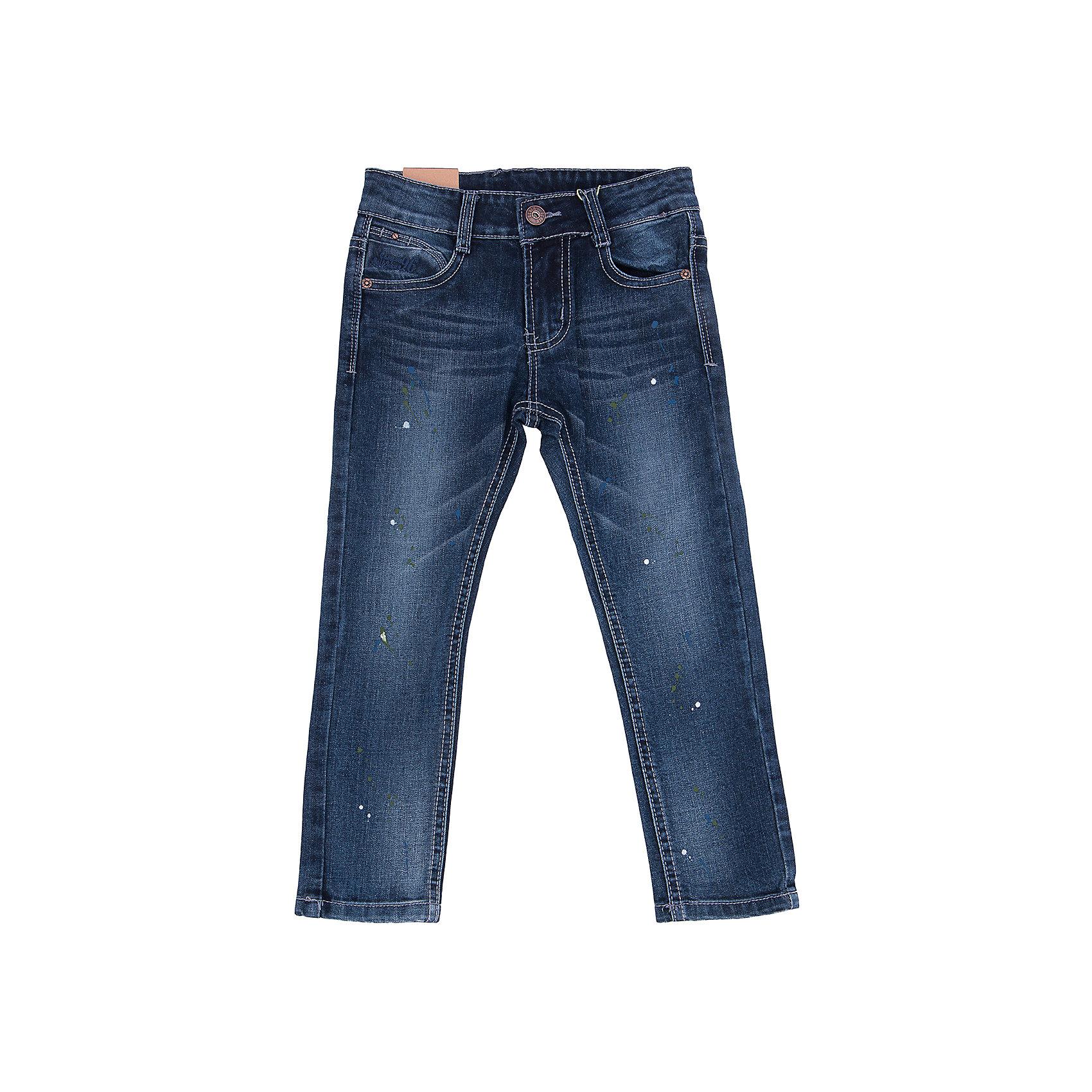 Джинсы для мальчика Sweet BerryТакая модель джинсов для мальчика отличается модным дизайном с контрастной прострочкой и потертостями. Удачный крой обеспечит ребенку комфорт и тепло. Джинсы плотно прилегают к телу там, где нужно, и отлично сидят по фигуре. Они имеют удобный пояс с регулировкой внутри и карманы. Натуральный хлопок в составе ткани обеспечит коже возможность дышать и не вызовет аллергии.<br>Одежда от бренда Sweet Berry - это простой и выгодный способ одеть ребенка удобно и стильно. Всё изделия тщательно проработаны: швы - прочные, материал - качественный, фурнитура - подобранная специально для детей. <br><br>Дополнительная информация:<br><br>цвет: синий;<br>имитация потертостей;<br>материал: 98% хлопок, 2% эластан;<br>пояс с регулировкой внутри.<br><br>Джинсы для мальчика от бренда Sweet Berry можно купить в нашем интернет-магазине.<br><br>Ширина мм: 215<br>Глубина мм: 88<br>Высота мм: 191<br>Вес г: 336<br>Цвет: синий<br>Возраст от месяцев: 24<br>Возраст до месяцев: 36<br>Пол: Мужской<br>Возраст: Детский<br>Размер: 104,110,116,122,128,98<br>SKU: 4930732