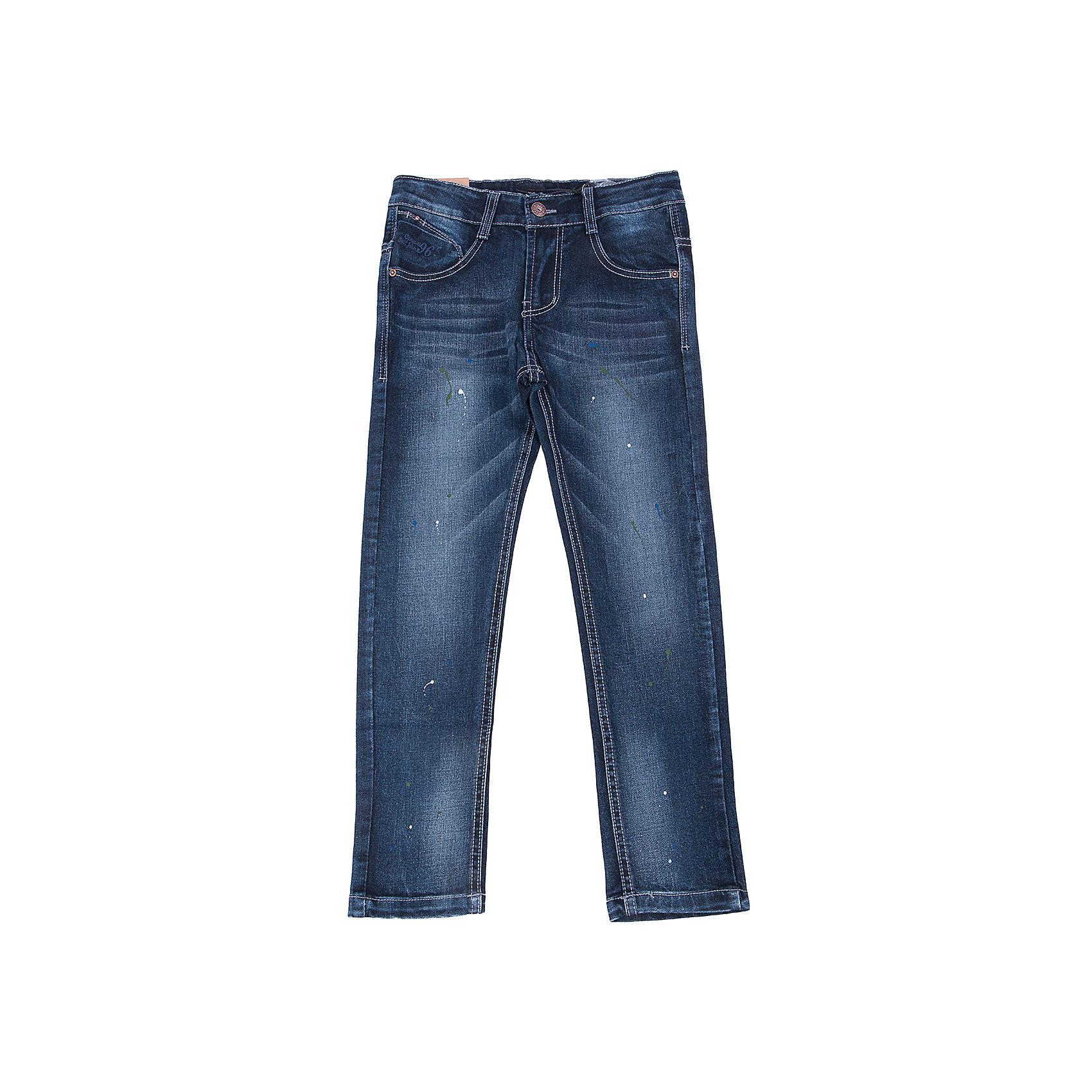 Джинсы для мальчика LuminosoДжинсовая одежда<br>Характеристики товара:<br><br>- цвет: синий;<br>- материал: 98% хлопок, 2% эластан;<br>- застежка: пуговица и молния;<br>- пояс регулируется внутренней резинкой на пуговицах;<br>- эффект потертостей.<br><br>Стильная одежда от бренда Luminoso (Люминосо), созданная при участии итальянских дизайнеров, учитывает потребности подростков и последние веяния моды. Она удобная и модная.<br>Эти джинсы выглядят стильно, но при этом подходят для ежедневного ношения. Они хорошо сидят на ребенке, обеспечивают комфорт и отлично сочетаются с одежной разных стилей. Модель отличается высоким качеством материала и продуманным дизайном. Натуральный хлопок в составе изделия делает его дышащим, приятным на ощупь и гипоаллергеным.<br><br>Джинсы для мальчика от бренда Luminoso (Люминосо) можно купить в нашем интернет-магазине.<br><br>Ширина мм: 215<br>Глубина мм: 88<br>Высота мм: 191<br>Вес г: 336<br>Цвет: синий<br>Возраст от месяцев: 144<br>Возраст до месяцев: 156<br>Пол: Мужской<br>Возраст: Детский<br>Размер: 158,134,140,146,164,152<br>SKU: 4930809