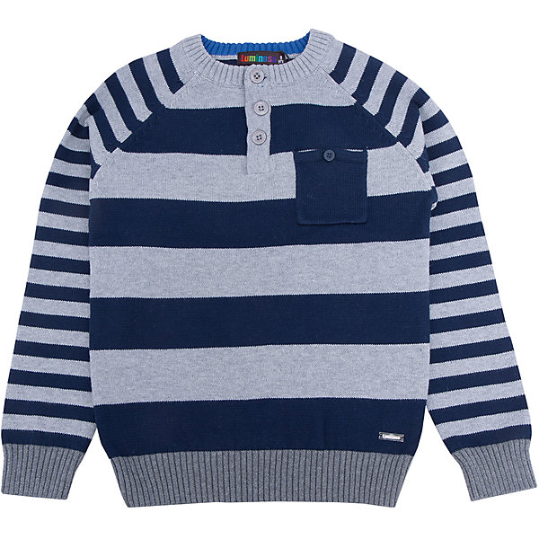 Свитер для мальчика LuminosoСвитера и кардиганы<br>Характеристики товара:<br><br>- цвет: серый;<br>- материал: 100% хлопок;<br>- застежка поло;<br>- резинка по низу и на рукавах;<br>- длинный рукав;<br>- в полоску;<br>- рукава реглан.<br><br>Стильная одежда от бренда Luminoso (Люминосо), созданная при участии итальянских дизайнеров, учитывает потребности подростков и последние веяния моды. Она удобная и модная.<br>Этот стильный свитер идеален для прохладной погоды. Он хорошо сидит на ребенке, обеспечивает комфорт и отлично сочетается с одежной разных стилей. Модель отличается высоким качеством материала и продуманным дизайном.<br><br>Свитер для мальчика от бренда Luminoso (Люминосо) можно купить в нашем интернет-магазине.<br><br>Ширина мм: 190<br>Глубина мм: 74<br>Высота мм: 229<br>Вес г: 236<br>Цвет: серый<br>Возраст от месяцев: 144<br>Возраст до месяцев: 156<br>Пол: Мужской<br>Возраст: Детский<br>Размер: 158,134,164,152,146,140<br>SKU: 4930823