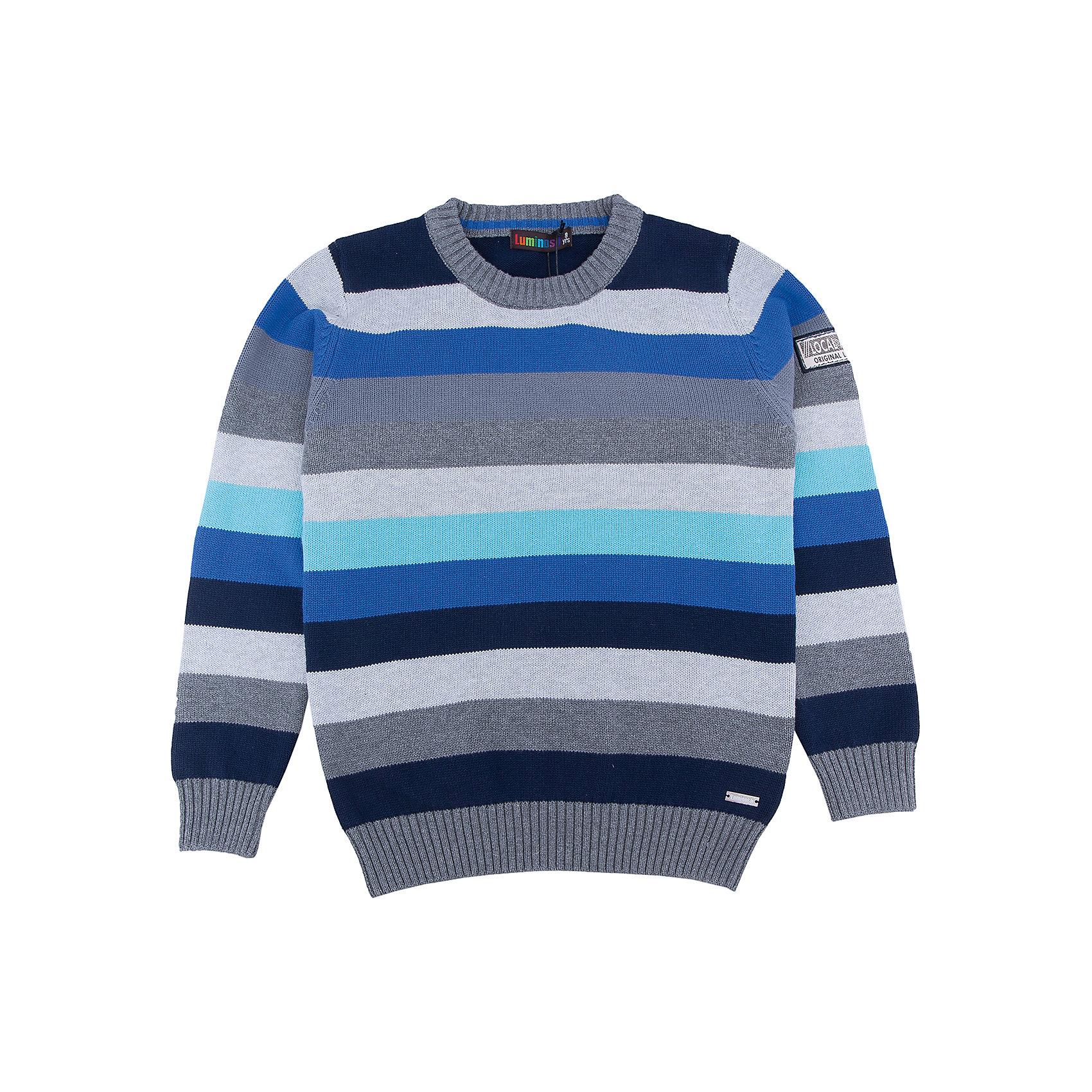 Свитер для мальчика LuminosoСвитера и кардиганы<br>Характеристики товара:<br><br>- цвет: серый;<br>- материал: 100% хлопок;<br>- резинка по низу и на рукавах;<br>- длинный рукав;<br>- в полоску;<br>- рукава реглан.<br><br>Стильная одежда от бренда Luminoso (Люминосо), созданная при участии итальянских дизайнеров, учитывает потребности подростков и последние веяния моды. Она удобная и модная.<br>Этот стильный свитер идеален для прохладной погоды. Он хорошо сидит на ребенке, обеспечивает комфорт и отлично сочетается с одежной разных стилей. Модель отличается высоким качеством материала и продуманным дизайном.<br><br>Свитер для мальчика от бренда Luminoso (Люминосо) можно купить в нашем интернет-магазине.<br><br>Ширина мм: 190<br>Глубина мм: 74<br>Высота мм: 229<br>Вес г: 236<br>Цвет: серый<br>Возраст от месяцев: 144<br>Возраст до месяцев: 156<br>Пол: Мужской<br>Возраст: Детский<br>Размер: 158,164,134,140,146,152<br>SKU: 4930830
