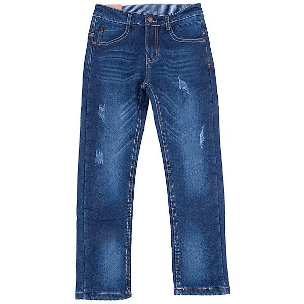 Джинсы для мальчика LuminosoДжинсовая одежда<br>Характеристики товара:<br><br>- цвет: синий;<br>- материал: 98% хлопок, 2% эластан, подкладка - 100% полиэстер;<br>- застежка: пуговица и молния;<br>- пояс регулируется внутренней резинкой на пуговицах;<br>- эффект потертостей.<br><br>Стильная одежда от бренда Luminoso (Люминосо), созданная при участии итальянских дизайнеров, учитывает потребности подростков и последние веяния моды. Она удобная и модная.<br>Эти джинсы выглядят стильно, но при этом подходят для ежедневного ношения. Они хорошо сидят на ребенке, обеспечивают комфорт и отлично сочетаются с одежной разных стилей. Модель отличается высоким качеством материала и продуманным дизайном. Натуральный хлопок в составе изделия делает его дышащим, приятным на ощупь и гипоаллергеным.<br><br>Джинсы для мальчика от бренда Luminoso (Люминосо) можно купить в нашем интернет-магазине.<br><br>Ширина мм: 215<br>Глубина мм: 88<br>Высота мм: 191<br>Вес г: 336<br>Цвет: синий<br>Возраст от месяцев: 96<br>Возраст до месяцев: 108<br>Пол: Мужской<br>Возраст: Детский<br>Размер: 134,164,158,152,146,140<br>SKU: 4930851