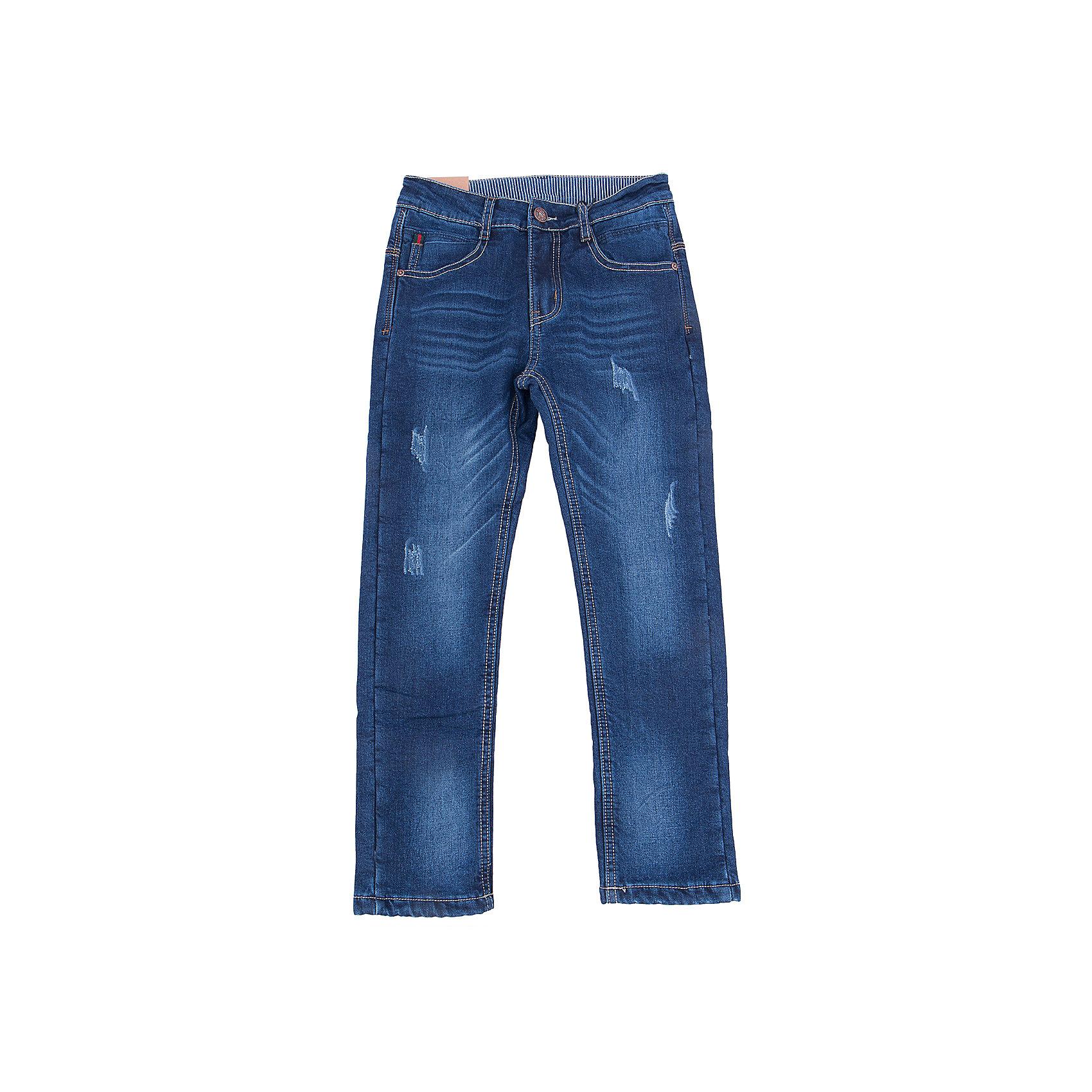 Джинсы для мальчика LuminosoХарактеристики товара:<br><br>- цвет: синий;<br>- материал: 98% хлопок, 2% эластан, подкладка - 100% полиэстер;<br>- застежка: пуговица и молния;<br>- пояс регулируется внутренней резинкой на пуговицах;<br>- эффект потертостей.<br><br>Стильная одежда от бренда Luminoso (Люминосо), созданная при участии итальянских дизайнеров, учитывает потребности подростков и последние веяния моды. Она удобная и модная.<br>Эти джинсы выглядят стильно, но при этом подходят для ежедневного ношения. Они хорошо сидят на ребенке, обеспечивают комфорт и отлично сочетаются с одежной разных стилей. Модель отличается высоким качеством материала и продуманным дизайном. Натуральный хлопок в составе изделия делает его дышащим, приятным на ощупь и гипоаллергеным.<br><br>Джинсы для мальчика от бренда Luminoso (Люминосо) можно купить в нашем интернет-магазине.<br><br>Ширина мм: 215<br>Глубина мм: 88<br>Высота мм: 191<br>Вес г: 336<br>Цвет: синий<br>Возраст от месяцев: 96<br>Возраст до месяцев: 108<br>Пол: Мужской<br>Возраст: Детский<br>Размер: 134,164,158,152,146,140<br>SKU: 4930851