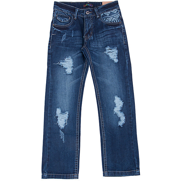 Джинсы для мальчика LuminosoДжинсовая одежда<br>Модные рваные джинсы с  потёртостями. С регулировкой внутри на поясе.<br>Состав:<br>100% хлопок<br><br>Ширина мм: 215<br>Глубина мм: 88<br>Высота мм: 191<br>Вес г: 336<br>Цвет: синий<br>Возраст от месяцев: 156<br>Возраст до месяцев: 168<br>Пол: Мужской<br>Возраст: Детский<br>Размер: 134,140,146,152,158,164<br>SKU: 4930858