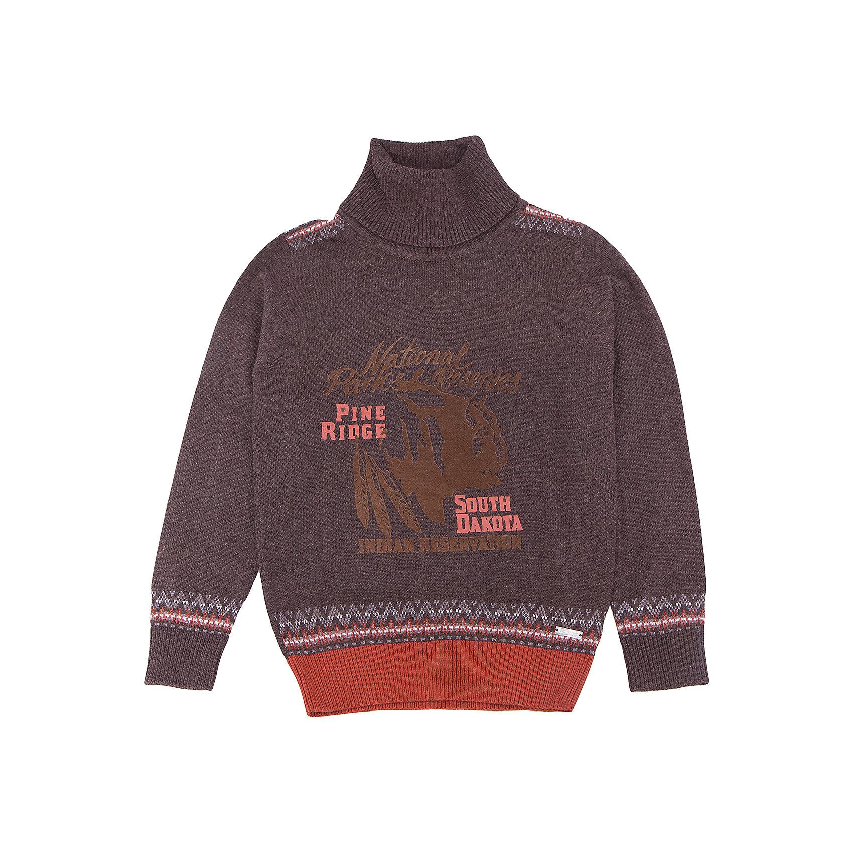 Водолазка для мальчика LuminosoХарактеристики товара:<br><br>- цвет: коричневый;<br>- материал: 60% хлопок, 40% акрил;<br>- качественная пряжа;<br>- резинка по низу и на рукавах;<br>- длинный рукав;<br>- вязаный узор;<br>- высокий ворот.<br><br>Стильная одежда от бренда Luminoso (Люминосо), созданная при участии итальянских дизайнеров, учитывает потребности подростков и последние веяния моды. Она удобная и модная.<br>Эта тонкая вязаная водолазка идеальна для прохладной погоды. Она хорошо сидит на ребенке, обеспечивает комфорт и отлично сочетается с одежной разных стилей. Модель отличается высоким качеством пряжи и продуманным дизайном.<br><br>Водолазку для мальчика от бренда Luminoso (Люминосо) можно купить в нашем интернет-магазине.<br><br>Ширина мм: 230<br>Глубина мм: 40<br>Высота мм: 220<br>Вес г: 250<br>Цвет: коричневый<br>Возраст от месяцев: 156<br>Возраст до месяцев: 168<br>Пол: Мужской<br>Возраст: Детский<br>Размер: 164,158,152,146,140,134<br>SKU: 4930921