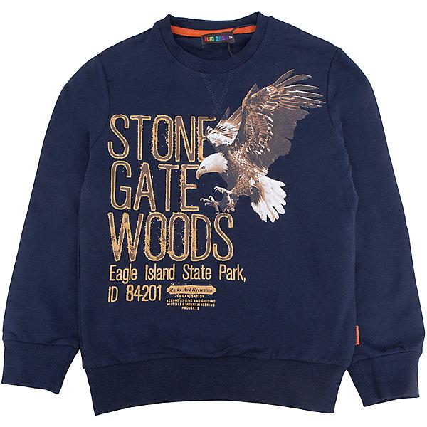 Толстовка для мальчика LuminosoТолстовки<br>Характеристики товара:<br><br>- цвет: синий;<br>- материал: 95% хлопок, 5% эластан;<br>- манжеты;<br>- длинный рукав;<br>- принт.<br><br>Стильная одежда от бренда Luminoso (Люминосо), созданная при участии итальянских дизайнеров, учитывает потребности подростков и последние веяния моды. Она удобная и модная.<br>Эта стильная толстовка идеальна для прохладной погоды. Он хорошо сидит на ребенке, обеспечивает комфорт и отлично сочетается с одежной разных стилей. Модель отличается высоким качеством материала и продуманным дизайном.<br><br>Толстовку для мальчика от бренда Luminoso (Люминосо) можно купить в нашем интернет-магазине.<br><br>Ширина мм: 190<br>Глубина мм: 74<br>Высота мм: 229<br>Вес г: 236<br>Цвет: синий<br>Возраст от месяцев: 96<br>Возраст до месяцев: 108<br>Пол: Мужской<br>Возраст: Детский<br>Размер: 164,158,152,146,140,134<br>SKU: 4930928