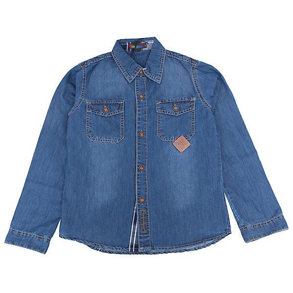 Рубашка джинсовая для мальчика LuminosoБлузки и рубашки<br>Характеристики товара:<br><br>- цвет: синий;<br>- материал: 100% хлопок;<br>- карман;<br>- длинный рукав;<br>- декорирована констрастной отстрочкой и шевроном.<br><br>Стильная одежда от бренда Luminoso (Люминосо), созданная при участии итальянских дизайнеров, учитывает потребности подростков и последние веяния моды. Она удобная и модная.<br>Эта хлопковая рубашка выглядит стильно и нарядно, но при этом подходит для ежедневного ношения. Он хорошо сидит на ребенке, обеспечивает комфорт и отлично сочетается с одежной разных стилей. Модель отличается высоким качеством материала и продуманным дизайном. Натуральный хлопок в составе изделия делает его дышащим, приятным на ощупь и гипоаллергеным.<br><br>Рубашку для мальчикаот бренда Luminoso (Люминосо) можно купить в нашем интернет-магазине.<br>Ширина мм: 174; Глубина мм: 10; Высота мм: 169; Вес г: 157; Цвет: синий; Возраст от месяцев: 132; Возраст до месяцев: 144; Пол: Мужской; Возраст: Детский; Размер: 152,164,158,146,140,134; SKU: 4930963;