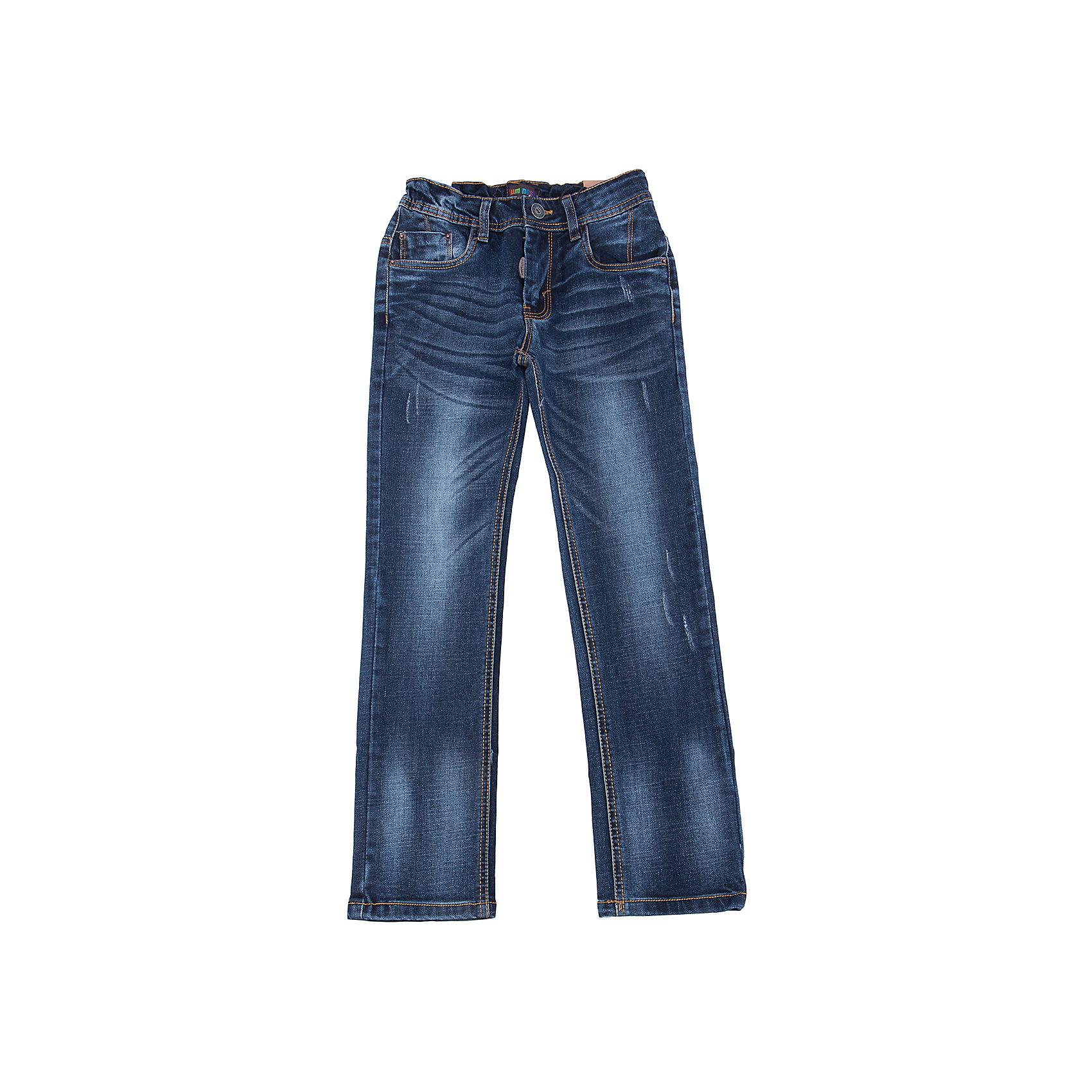 Джинсы для мальчика LuminosoДжинсовая одежда<br>Характеристики товара:<br><br>- цвет: синий;<br>- материал: 98% хлопок, 2% эластан;<br>- застежка: пуговица и молния;<br>- пояс регулируется внутренней резинкой на пуговицах;<br>- эффект потертостей.<br><br>Стильная одежда от бренда Luminoso (Люминосо), созданная при участии итальянских дизайнеров, учитывает потребности подростков и последние веяния моды. Она удобная и модная.<br>Эти джинсы выглядят стильно, но при этом подходят для ежедневного ношения. Они хорошо сидят на ребенке, обеспечивают комфорт и отлично сочетаются с одежной разных стилей. Модель отличается высоким качеством материала и продуманным дизайном. Натуральный хлопок в составе изделия делает его дышащим, приятным на ощупь и гипоаллергеным.<br><br>Джинсы для мальчика от бренда Luminoso (Люминосо) можно купить в нашем интернет-магазине.<br><br>Ширина мм: 215<br>Глубина мм: 88<br>Высота мм: 191<br>Вес г: 336<br>Цвет: синий<br>Возраст от месяцев: 120<br>Возраст до месяцев: 132<br>Пол: Мужской<br>Возраст: Детский<br>Размер: 146,164,134,140,152,158<br>SKU: 4930970