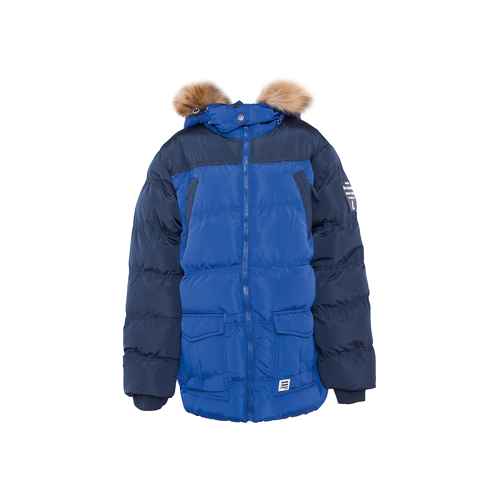 Куртка для мальчика LuminosoВерхняя одежда<br>Характеристики товара:<br><br>- цвет: синий;<br>- материал: верх - 100% полиэстер, подкладка - 100% полиэстер, наполнитель - 100% полиэстер;<br>- фурнитура: металл;<br>- застежка: молния;<br>- капюшон;<br>- флисовая подкладка;<br>- отделка искусственным мехом.<br><br>Стильная одежда от бренда Luminoso (Люминосо), созданная при участии итальянских дизайнеров, учитывает потребности подростков и последние веяния моды. Она удобная и модная.<br>Эта утепленная куртка - для прохладной и холодной погоды. Она хорошо сидит на ребенке, обеспечивает комфорт и отлично сочетается с одежной разных стилей. Модель отличается высоким качеством швов и продуманным дизайном.<br><br>Куртку для мальчика от бренда Luminoso (Люминосо) можно купить в нашем интернет-магазине.<br><br>Ширина мм: 356<br>Глубина мм: 10<br>Высота мм: 245<br>Вес г: 519<br>Цвет: синий<br>Возраст от месяцев: 96<br>Возраст до месяцев: 108<br>Пол: Мужской<br>Возраст: Детский<br>Размер: 134,152,158,164,140,146<br>SKU: 4930984