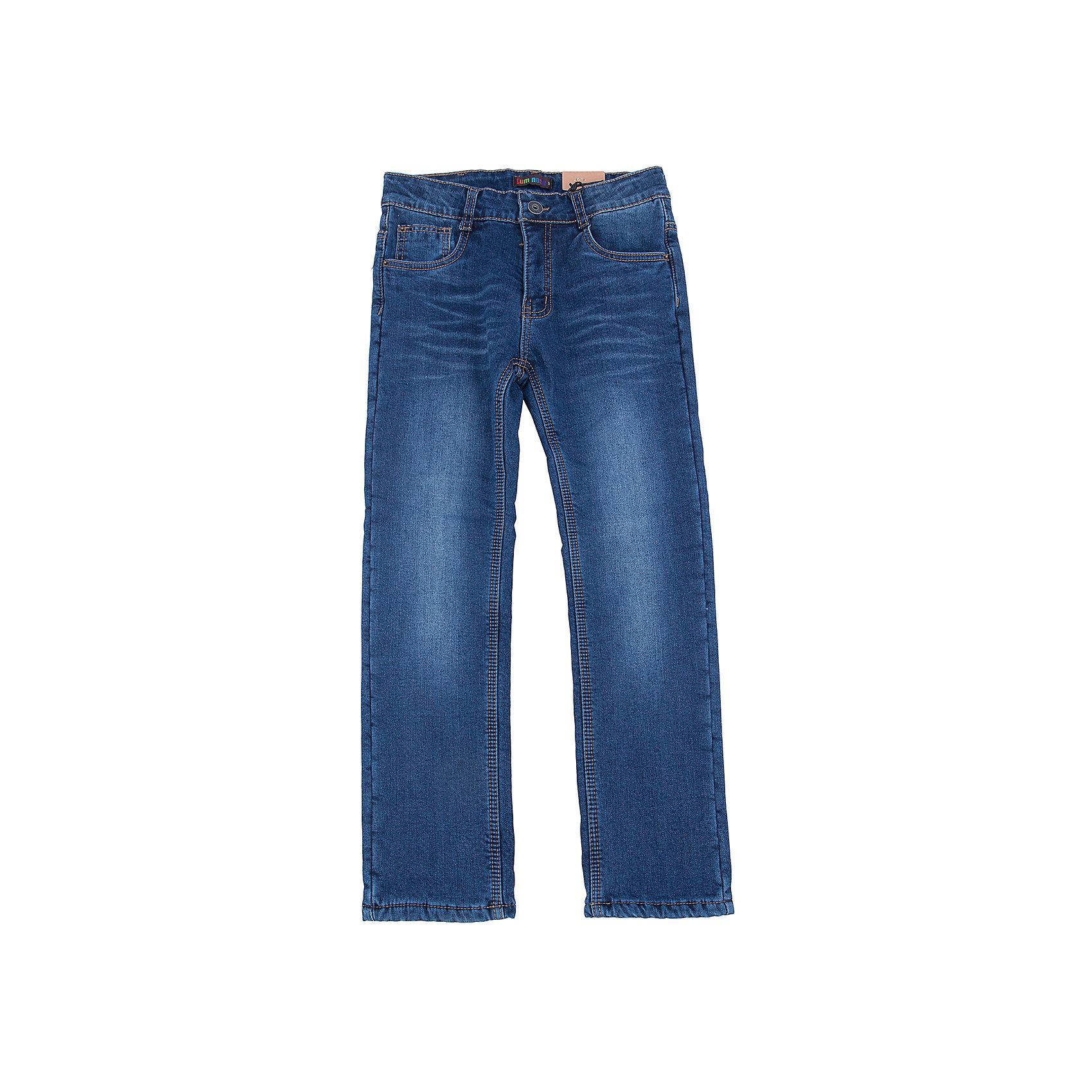 Джинсы для мальчика LuminosoХарактеристики товара:<br><br>- цвет: синий;<br>- материал: 100% хлопок, подкладка - 100% полиэстер флис;<br>- застежка: пуговица и молния;<br>- пояс регулируется внутренней резинкой на пуговицах;<br>- эффект потертостей.<br><br>Стильная одежда от бренда Luminoso (Люминосо), созданная при участии итальянских дизайнеров, учитывает потребности подростков и последние веяния моды. Она удобная и модная.<br>Эти утепленные джинсы выглядят стильно, но при этом подходят для ежедневного ношения. Они хорошо сидят на ребенке, обеспечивают комфорт и отлично сочетаются с одежной разных стилей. Модель отличается высоким качеством материала и продуманным дизайном. Натуральный хлопок в составе изделия делает его дышащим, приятным на ощупь и гипоаллергеным.<br><br>Джинсы для мальчика от бренда Luminoso (Люминосо) можно купить в нашем интернет-магазине.<br><br>Ширина мм: 215<br>Глубина мм: 88<br>Высота мм: 191<br>Вес г: 336<br>Цвет: синий<br>Возраст от месяцев: 120<br>Возраст до месяцев: 132<br>Пол: Мужской<br>Возраст: Детский<br>Размер: 146,134,164,158,152,140<br>SKU: 4930991
