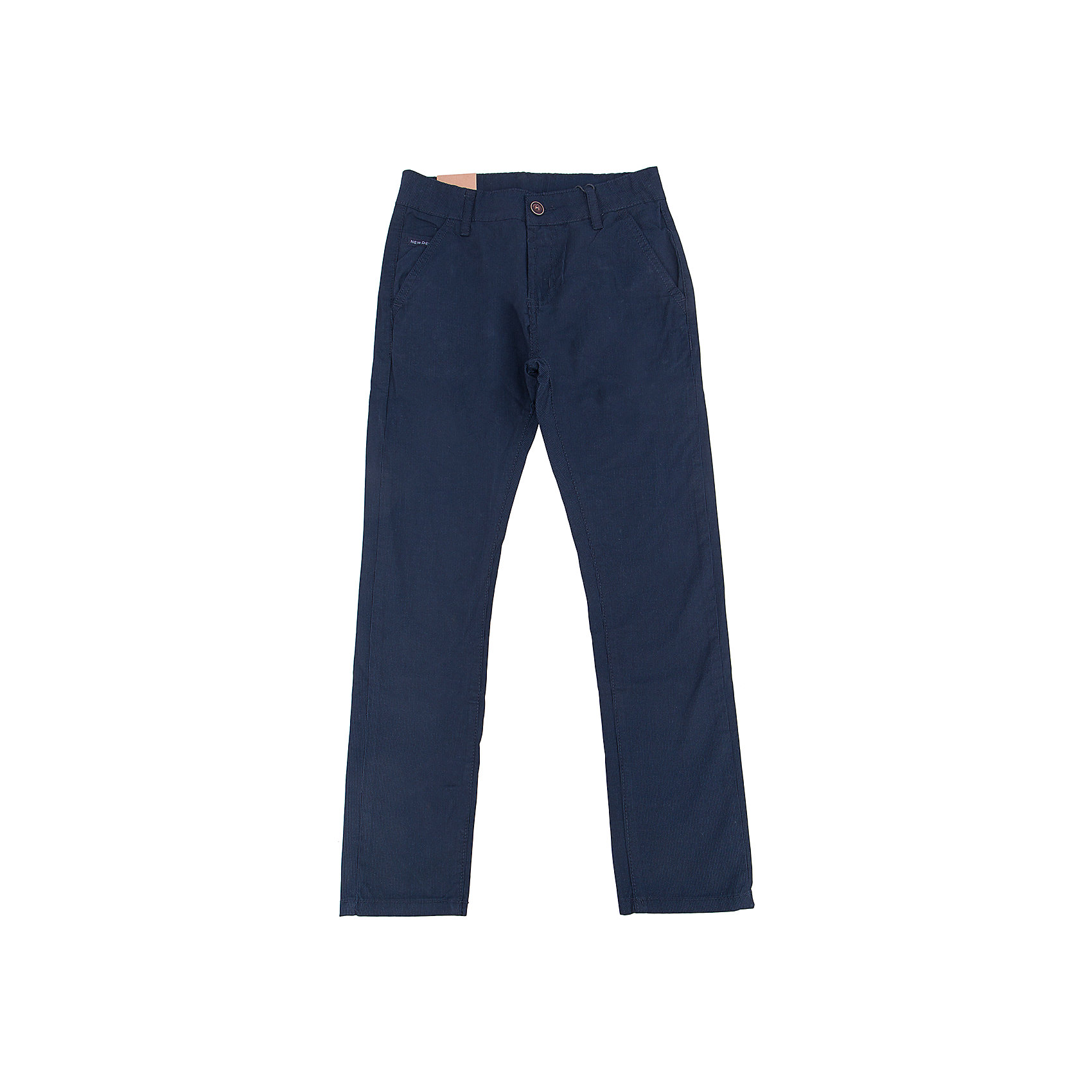 Брюки для мальчика LuminosoХарактеристики товара:<br><br>- цвет: синий;<br>- материал: 98% хлопок, 2% эластан;<br>- застежка: пуговица и молния;<br>- пояс регулируется внутренней резинкой на пуговицах;<br>- шлевки для ремня.<br><br>Стильная одежда от бренда Luminoso (Люминосо), созданная при участии итальянских дизайнеров, учитывает потребности подростков и последние веяния моды. Она удобная и модная.<br>Эти брюки выглядят стильно, но при этом подходят для ежедневного ношения. Они хорошо сидят на ребенке, обеспечивают комфорт и отлично сочетаются с одежной разных стилей. Модель отличается высоким качеством материала и продуманным дизайном. Натуральный хлопок в составе изделия делает его дышащим, приятным на ощупь и гипоаллергеным.<br><br>Брюки для мальчика от бренда Luminoso (Люминосо) можно купить в нашем интернет-магазине.<br><br>Ширина мм: 215<br>Глубина мм: 88<br>Высота мм: 191<br>Вес г: 336<br>Цвет: синий<br>Возраст от месяцев: 144<br>Возраст до месяцев: 156<br>Пол: Мужской<br>Возраст: Детский<br>Размер: 158,164,134,140,146,152<br>SKU: 4930998