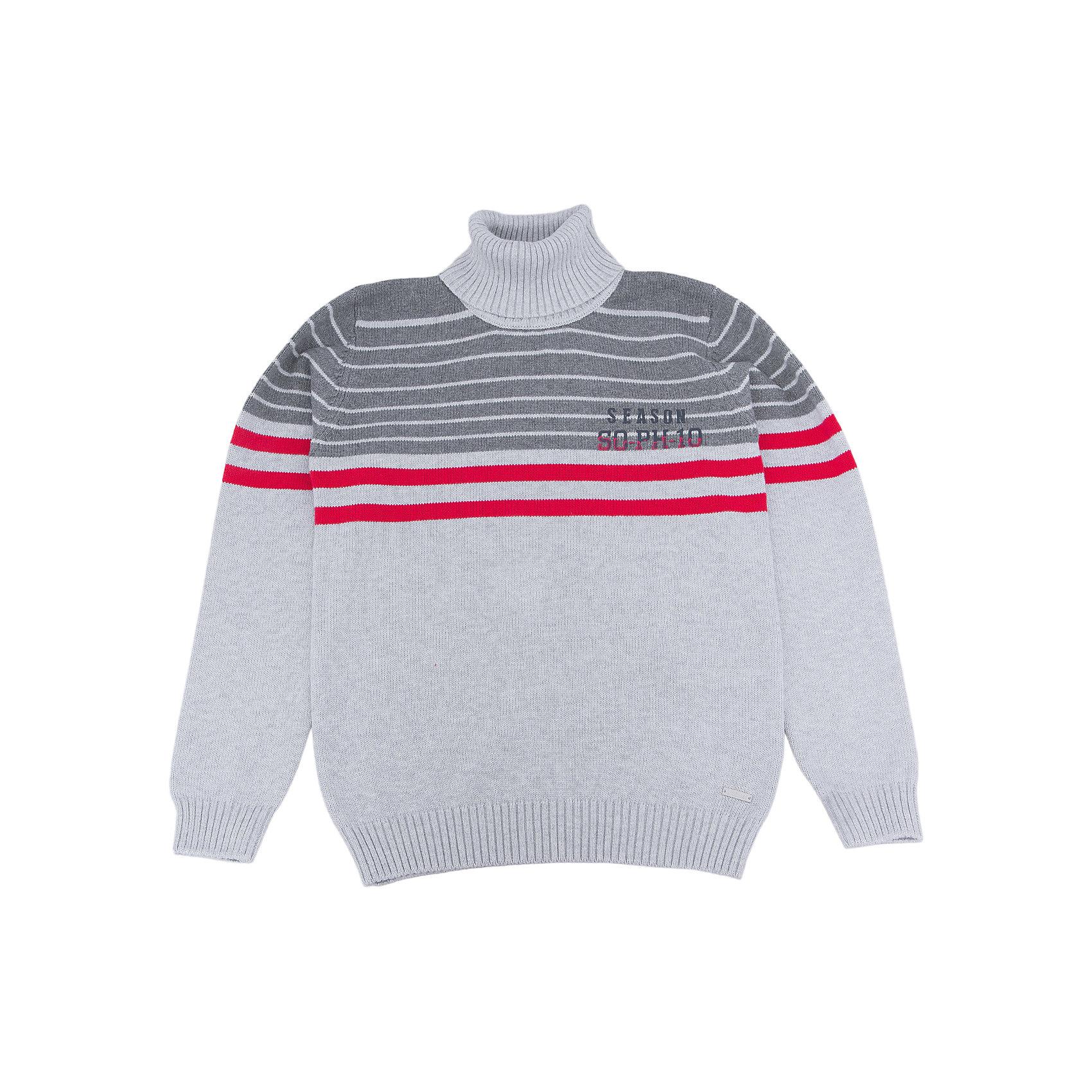 Свитер для мальчика LuminosoСвитер для мальчика от популярной марки Luminoso.<br>Уютный свитер для мальчиков из серого меланжа. Декорирован контрастными полосами и принтом.<br>Состав:<br>100% хлопок<br><br>Ширина мм: 190<br>Глубина мм: 74<br>Высота мм: 229<br>Вес г: 236<br>Цвет: серый<br>Возраст от месяцев: 108<br>Возраст до месяцев: 120<br>Пол: Мужской<br>Возраст: Детский<br>Размер: 140,146,152,158,164,134<br>SKU: 4931005