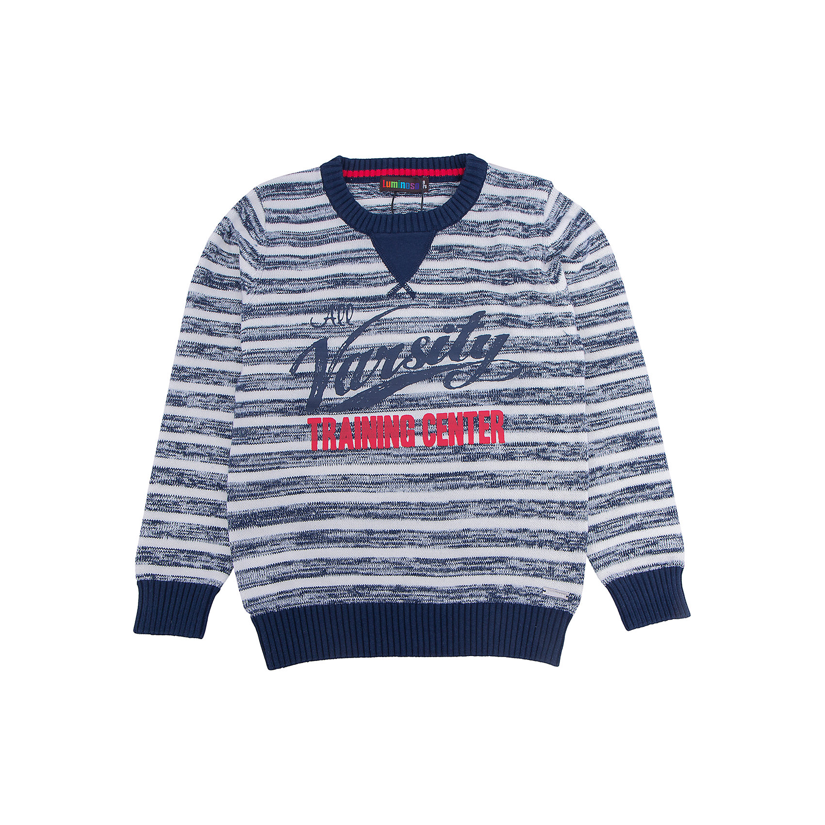 Свитер для мальчика LuminosoХарактеристики товара:<br><br>- цвет: серый;<br>- материал: 100% хлопок;<br>- принт;<br>- резинка по низу и на рукавах;<br>- длинный рукав;<br>- в полоску.<br><br>Стильная одежда от бренда Luminoso (Люминосо), созданная при участии итальянских дизайнеров, учитывает потребности подростков и последние веяния моды. Она удобная и модная.<br>Этот стильный свитер идеален для прохладной погоды. Он хорошо сидит на ребенке, обеспечивает комфорт и отлично сочетается с одежной разных стилей. Модель отличается высоким качеством материала и продуманным дизайном.<br><br>Свитер для мальчика от бренда Luminoso (Люминосо) можно купить в нашем интернет-магазине.<br><br>Ширина мм: 190<br>Глубина мм: 74<br>Высота мм: 229<br>Вес г: 236<br>Цвет: серый<br>Возраст от месяцев: 132<br>Возраст до месяцев: 144<br>Пол: Мужской<br>Возраст: Детский<br>Размер: 152,146,158,164,134,140<br>SKU: 4931012