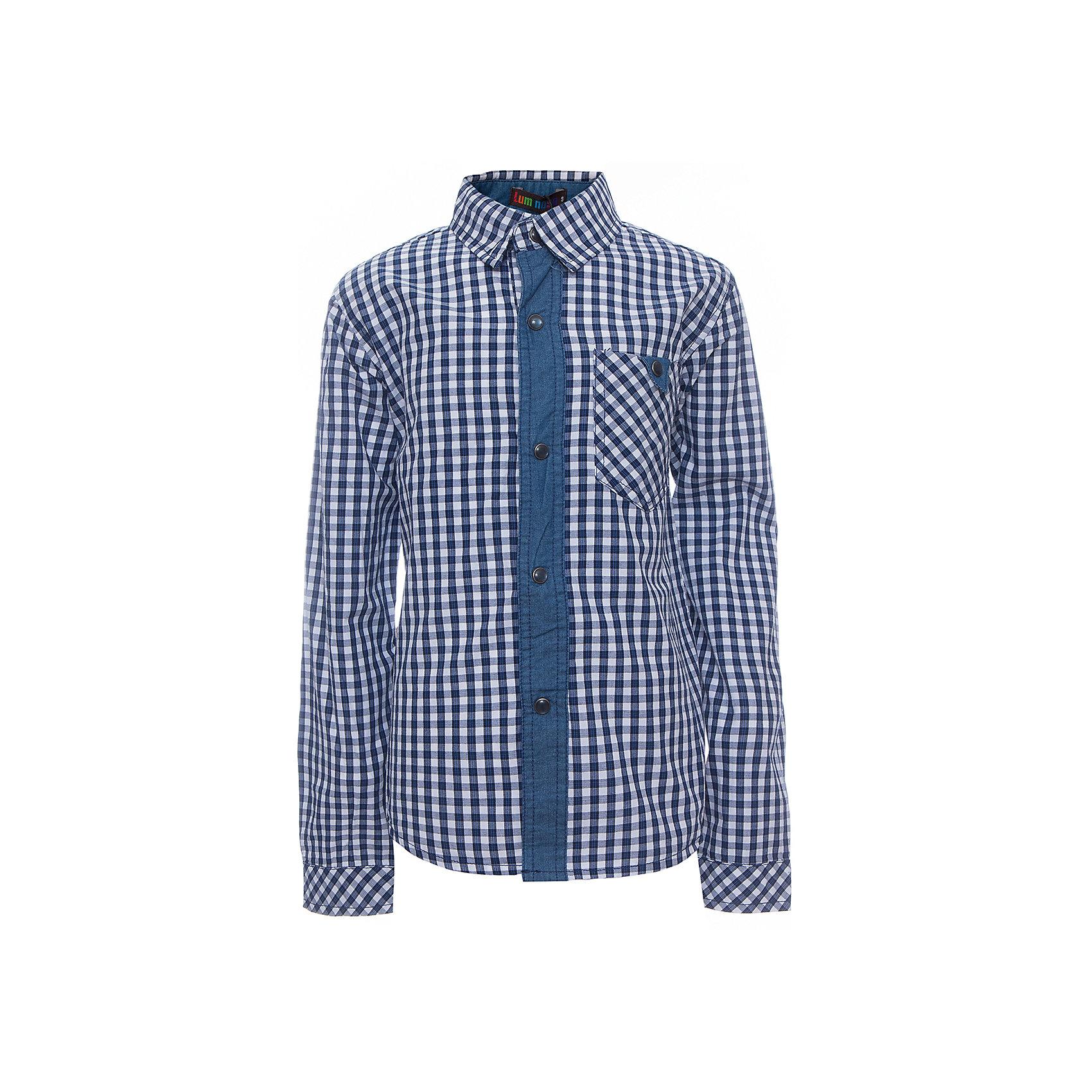 Рубашка для мальчика LuminosoБлузки и рубашки<br>Характеристики товара:<br><br>- цвет: синий;<br>- материал: 100% хлопок;<br>- карман;<br>- длинный рукав;<br>- декорирована отделкой из денима.<br><br>Стильная одежда от бренда Luminoso (Люминосо), созданная при участии итальянских дизайнеров, учитывает потребности подростков и последние веяния моды. Она удобная и модная.<br>Эта хлопковая рубашка выглядит стильно и нарядно, но при этом подходит для ежедневного ношения. Он хорошо сидит на ребенке, обеспечивает комфорт и отлично сочетается с одежной разных стилей. Модель отличается высоким качеством материала и продуманным дизайном. Натуральный хлопок в составе изделия делает его дышащим, приятным на ощупь и гипоаллергеным.<br><br>Рубашку для мальчикаот бренда Luminoso (Люминосо) можно купить в нашем интернет-магазине.<br><br>Ширина мм: 174<br>Глубина мм: 10<br>Высота мм: 169<br>Вес г: 157<br>Цвет: синий<br>Возраст от месяцев: 96<br>Возраст до месяцев: 108<br>Пол: Мужской<br>Возраст: Детский<br>Размер: 134,164,140,146,152,158<br>SKU: 4931061