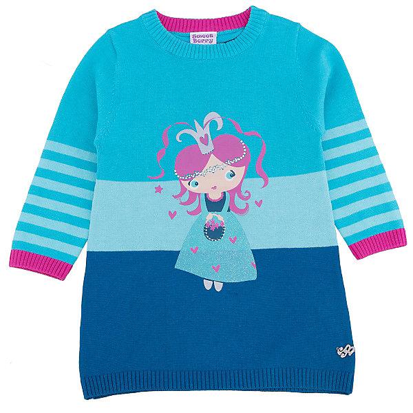 Платье для девочки Sweet BerryПлатья<br>Такое платье отличается модным дизайном с узором и стразами. Удачный крой обеспечит ребенку комфорт и тепло. Плотный материал делает вещь идеальной для прохладной погоды. Она хорошо прилегает к телу там, где нужно, и отлично сидит по фигуре. Натуральный хлопок обеспечит коже возможность дышать и не вызовет аллергии.<br>Одежда от бренда Sweet Berry - это простой и выгодный способ одеть ребенка удобно и стильно. Всё изделия тщательно проработаны: швы - прочные, материал - качественный, фурнитура - подобранная специально для детей.<br><br>Дополнительная информация:<br><br>цвет: голубой;<br>состав: 100% хлопок;<br>декорировано узором и стразами.<br><br>Платье для девочки от бренда Sweet Berry можно купить в нашем интернет-магазине.<br><br>Ширина мм: 236<br>Глубина мм: 16<br>Высота мм: 184<br>Вес г: 177<br>Цвет: голубой<br>Возраст от месяцев: 12<br>Возраст до месяцев: 15<br>Пол: Женский<br>Возраст: Детский<br>Размер: 80,98,92,86<br>SKU: 4931103