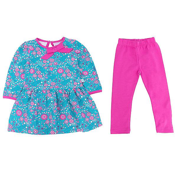Комплект для девочки: платье и леггинсы Sweet BerryКомплекты<br>Такое платье с леггинсами отличается модным дизайном с ярким принтом. Удачный крой обеспечит ребенку комфорт и тепло. Плотный материал делает вещи идеальными для прохладной погоды. Они хорошо прилегают к телу там, где нужно, и отлично сидят по фигуре. Натуральный хлопок в составе ткани обеспечит коже возможность дышать и не вызовет аллергии.<br>Одежда от бренда Sweet Berry - это простой и выгодный способ одеть ребенка удобно и стильно. Всё изделия тщательно проработаны: швы - прочные, материал - качественный, фурнитура - подобранная специально для детей.<br><br>Дополнительная информация:<br><br>цвет: голубой, розовый;<br>материал: 95% хлопок, 5% эластан;<br>платье декорировано принтом.<br><br>Комплект для девочки: платье и леггинсы от бренда Sweet Berry можно купить в нашем интернет-магазине.<br>Ширина мм: 236; Глубина мм: 16; Высота мм: 184; Вес г: 177; Цвет: голубой; Возраст от месяцев: 18; Возраст до месяцев: 24; Пол: Женский; Возраст: Детский; Размер: 92,86,80,98; SKU: 4931123;