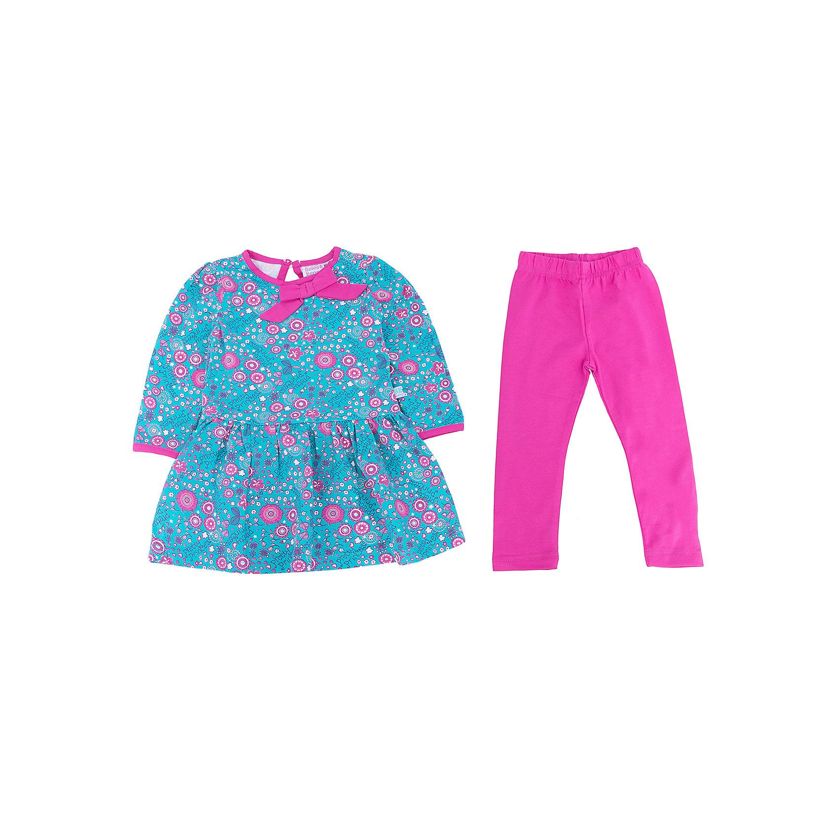 Комплект для девочки: платье и леггинсы Sweet BerryТакое платье с леггинсами отличается модным дизайном с ярким принтом. Удачный крой обеспечит ребенку комфорт и тепло. Плотный материал делает вещи идеальными для прохладной погоды. Они хорошо прилегают к телу там, где нужно, и отлично сидят по фигуре. Натуральный хлопок в составе ткани обеспечит коже возможность дышать и не вызовет аллергии.<br>Одежда от бренда Sweet Berry - это простой и выгодный способ одеть ребенка удобно и стильно. Всё изделия тщательно проработаны: швы - прочные, материал - качественный, фурнитура - подобранная специально для детей.<br><br>Дополнительная информация:<br><br>цвет: голубой, розовый;<br>материал: 95% хлопок, 5% эластан;<br>платье декорировано принтом.<br><br>Комплект для девочки: платье и леггинсы от бренда Sweet Berry можно купить в нашем интернет-магазине.<br><br>Ширина мм: 236<br>Глубина мм: 16<br>Высота мм: 184<br>Вес г: 177<br>Цвет: голубой<br>Возраст от месяцев: 12<br>Возраст до месяцев: 15<br>Пол: Женский<br>Возраст: Детский<br>Размер: 80,98,92,86<br>SKU: 4931123
