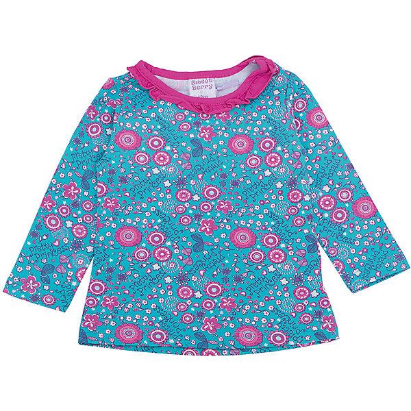Футболка с длинным рукавом для девочки Sweet BerryФутболки, топы<br>Такая футболка с длинным рукавом для девочки отличается модным дизайном с ярким принтом. Удачный крой обеспечит ребенку комфорт и тепло. Горловина изделия выполнена из яркого контрастного трикотажа. Вещь плотно прилегает к телу там, где нужно, и отлично сидит по фигуре.<br>Одежда от бренда Sweet Berry - это простой и выгодный способ одеть ребенка удобно и стильно. Всё изделия тщательно проработаны: швы - прочные, материал - качественный, фурнитура - подобранная специально для детей. <br><br>Дополнительная информация:<br><br>цвет: голубой;<br>материал: 95% хлопок, 5% эластан;<br>декорирована принтом.<br><br>Футболку с длинным рукавом для девочки от бренда Sweet Berry можно купить в нашем интернет-магазине.<br><br>Ширина мм: 230<br>Глубина мм: 40<br>Высота мм: 220<br>Вес г: 250<br>Цвет: голубой<br>Возраст от месяцев: 12<br>Возраст до месяцев: 15<br>Пол: Женский<br>Возраст: Детский<br>Размер: 80,98,92,86<br>SKU: 4931133