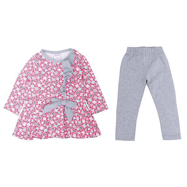 Комплект для девочки: платье и леггинсы Sweet BerryКомплекты<br>Такое платье с леггинсами отличается модным дизайном с ярким принтом. Удачный крой обеспечит ребенку комфорт и тепло. Плотный материал делает вещи идеальными для прохладной погоды. Они хорошо прилегают к телу там, где нужно, и отлично сидят по фигуре. Натуральный хлопок в составе ткани обеспечит коже возможность дышать и не вызовет аллергии.<br>Одежда от бренда Sweet Berry - это простой и выгодный способ одеть ребенка удобно и стильно. Всё изделия тщательно проработаны: швы - прочные, материал - качественный, фурнитура - подобранная специально для детей.<br><br>Дополнительная информация:<br><br>цвет: розовый;<br>материал: 95% хлопок, 5% эластан;<br>платье декорировано принтом и воланом.<br><br>Комплект для девочки: платье и леггинсы от бренда Sweet Berry можно купить в нашем интернет-магазине.<br><br>Ширина мм: 236<br>Глубина мм: 16<br>Высота мм: 184<br>Вес г: 177<br>Цвет: розовый<br>Возраст от месяцев: 12<br>Возраст до месяцев: 18<br>Пол: Женский<br>Возраст: Детский<br>Размер: 86,98,80,92<br>SKU: 4931193