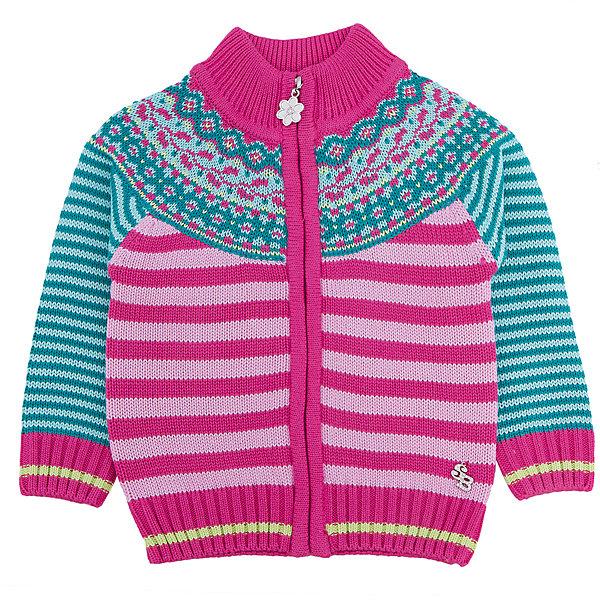 Кардиган для девочки Sweet BerryТолстовки, свитера, кардиганы<br>Этот жакет для девочки отличается модным дизайном: смешение полоски и узора добавляет изделию оригинальности. Удачный крой обеспечит ребенку комфорт и тепло. Края изделия обработаны мягкой резинкой, поэтому вещь плотно прилегает к телу там, где нужно, и отлично сидит по фигуре. На жакете - удобная молния.<br>Одежда от бренда Sweet Berry - это простой и выгодный способ одеть ребенка удобно и стильно. Всё изделия тщательно проработаны: швы - прочные, материал - качественный, фурнитура - подобранная специально для детей. <br><br>Дополнительная информация:<br><br>цвет: розовый;<br>материал: 60% хлопок, 40% акрил;<br>украшен узором;<br>застежка: молния.<br><br>Жакет для девочки от бренда Sweet Berry можно купить в нашем интернет-магазине.<br><br>Ширина мм: 190<br>Глубина мм: 74<br>Высота мм: 229<br>Вес г: 236<br>Цвет: розовый<br>Возраст от месяцев: 12<br>Возраст до месяцев: 15<br>Пол: Женский<br>Возраст: Детский<br>Размер: 80,98,92,86<br>SKU: 4931233