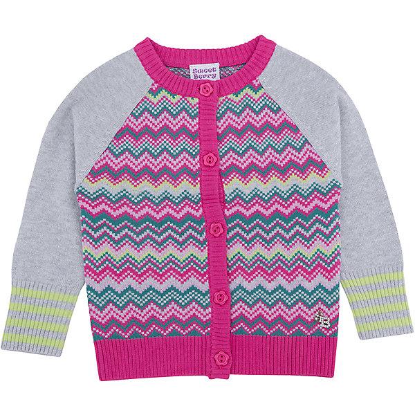 Кардиган для девочки Sweet BerryТолстовки, свитера, кардиганы<br>Этот кардиган для девочки отличается модным дизайном: смешение однотонных рукавов и узора добавляет изделию оригинальности. Удачный крой обеспечит ребенку комфорт и тепло. Края изделия обработаны мягкой резинкой, поэтому вещь плотно прилегает к телу там, где нужно, и отлично сидит по фигуре. На жакете - удобные пуговицы.<br>Одежда от бренда Sweet Berry - это простой и выгодный способ одеть ребенка удобно и стильно. Всё изделия тщательно проработаны: швы - прочные, материал - качественный, фурнитура - подобранная специально для детей. <br><br>Дополнительная информация:<br><br>цвет: розовый;<br>материал: 60% хлопок, 40% акрил;<br>украшен узором;<br>застежка: пуговицы.<br><br>Жакет для девочки от бренда Sweet Berry можно купить в нашем интернет-магазине.<br><br>Ширина мм: 190<br>Глубина мм: 74<br>Высота мм: 229<br>Вес г: 236<br>Цвет: розовый<br>Возраст от месяцев: 12<br>Возраст до месяцев: 15<br>Пол: Женский<br>Возраст: Детский<br>Размер: 80,98,92,86<br>SKU: 4931243