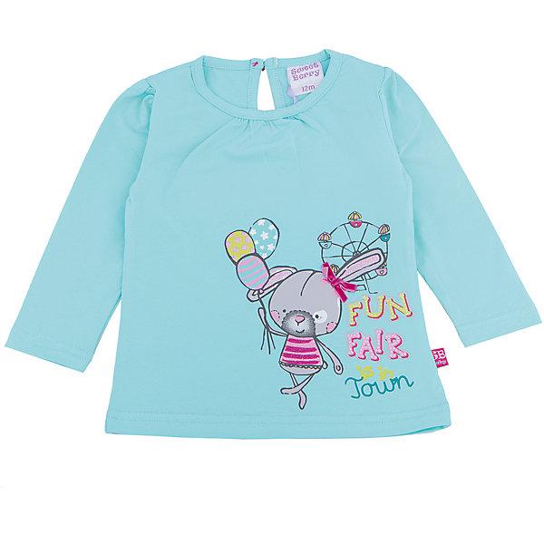 Футболка с длинным рукавом для девочки Sweet BerryФутболки, топы<br>Такая футболка с длинным рукавом для девочки отличается модным дизайном с ярким принтом. Удачный крой обеспечит ребенку комфорт и тепло. Рукава красиво присборены. Вещь плотно прилегает к телу там, где нужно, и отлично сидит по фигуре.<br>Одежда от бренда Sweet Berry - это простой и выгодный способ одеть ребенка удобно и стильно. Всё изделия тщательно проработаны: швы - прочные, материал - качественный, фурнитура - подобранная специально для детей. <br><br>Дополнительная информация:<br><br>цвет: голубой;<br>материал: 95% хлопок, 5% эластан;<br>декорирована принтом.<br><br>Футболку с длинным рукавом для девочки от бренда Sweet Berry можно купить в нашем интернет-магазине.<br><br>Ширина мм: 230<br>Глубина мм: 40<br>Высота мм: 220<br>Вес г: 250<br>Цвет: голубой<br>Возраст от месяцев: 12<br>Возраст до месяцев: 15<br>Пол: Женский<br>Возраст: Детский<br>Размер: 80,98,92,86<br>SKU: 4931263