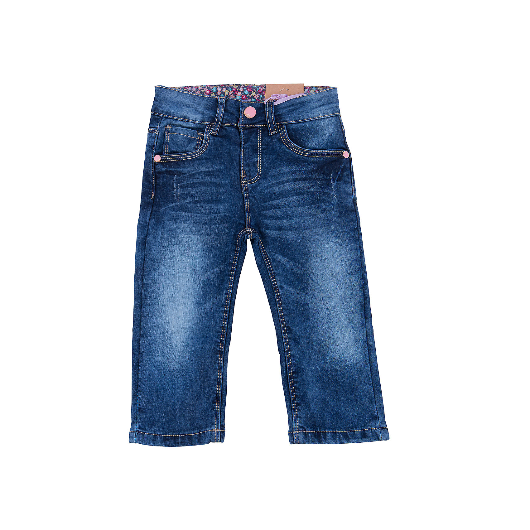 Джинсы для девочки Sweet BerryТакая модель джинсов для девочки отличается модным дизайном с контрастной прострочкой и потертостями. Удачный крой обеспечит ребенку комфорт и тепло. Мягкая подкладка делает вещь идеальной для повседневного ношения. Она плотно прилегает к телу там, где нужно, и отлично сидит по фигуре. Джинсы имеют удобный пояс с регулировкой внутри. Натуральный хлопок обеспечит коже возможность дышать и не вызовет аллергии.<br>Одежда от бренда Sweet Berry - это простой и выгодный способ одеть ребенка удобно и стильно. Всё изделия тщательно проработаны: швы - прочные, материал - качественный, фурнитура - подобранная специально для детей. <br><br>Дополнительная информация:<br><br>цвет: синий;<br>имитация потертостей;<br>материал: верх - 98% хлопок, 2% эластан, подкладка - 100% хлопок;<br>пояс с регулировкой внутри.<br><br>Джинсы для девочки от бренда Sweet Berry можно купить в нашем интернет-магазине.<br><br>Ширина мм: 215<br>Глубина мм: 88<br>Высота мм: 191<br>Вес г: 336<br>Цвет: синий<br>Возраст от месяцев: 24<br>Возраст до месяцев: 36<br>Пол: Женский<br>Возраст: Детский<br>Размер: 98,80,86,92<br>SKU: 4931283