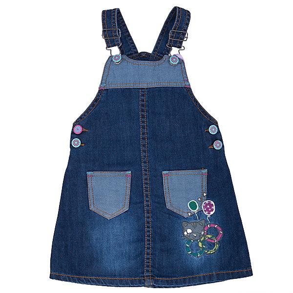 Сарафан джинсовый для девочки Sweet BerryДжинсовая одежда<br>Удобный джинсовый сарафан. Украшен яркой фурнитурой. Аппликацией и вышивкой.<br>Состав:<br>100% хлопок<br>Ширина мм: 236; Глубина мм: 16; Высота мм: 184; Вес г: 177; Цвет: синий; Возраст от месяцев: 12; Возраст до месяцев: 15; Пол: Женский; Возраст: Детский; Размер: 80,98,92,86; SKU: 4931293;