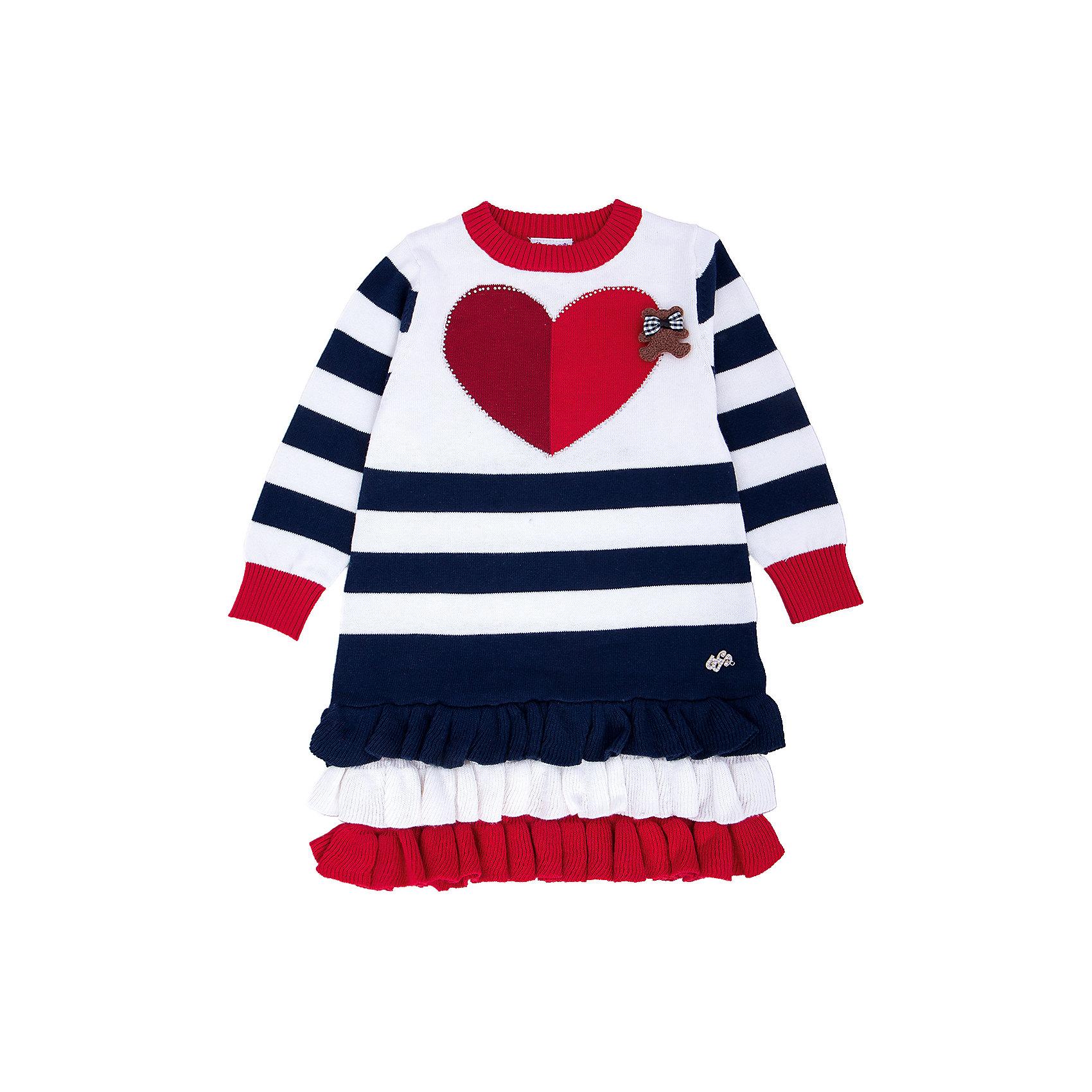 Платье для девочки Sweet BerryПлатья<br>Такое платье отличается модным дизайном с принтом и карманами. Удачный крой обеспечит ребенку комфорт и тепло. Плотный материал делает вещь идеальной для прохладной погоды. Она хорошо прилегает к телу там, где нужно, и отлично сидит по фигуре. Натуральный хлопок обеспечит коже возможность дышать и не вызовет аллергии.<br>Одежда от бренда Sweet Berry - это простой и выгодный способ одеть ребенка удобно и стильно. Всё изделия тщательно проработаны: швы - прочные, материал - качественный, фурнитура - подобранная специально для детей.<br><br>Дополнительная информация:<br><br>цвет: разноцветный;<br>состав: 100% хлопок;<br>декорировано сердечком и воланами.<br><br>Платье для девочки от бренда Sweet Berry можно купить в нашем интернет-магазине.<br><br>Ширина мм: 236<br>Глубина мм: 16<br>Высота мм: 184<br>Вес г: 177<br>Цвет: синий<br>Возраст от месяцев: 12<br>Возраст до месяцев: 15<br>Пол: Женский<br>Возраст: Детский<br>Размер: 80,86,92,98<br>SKU: 4931323