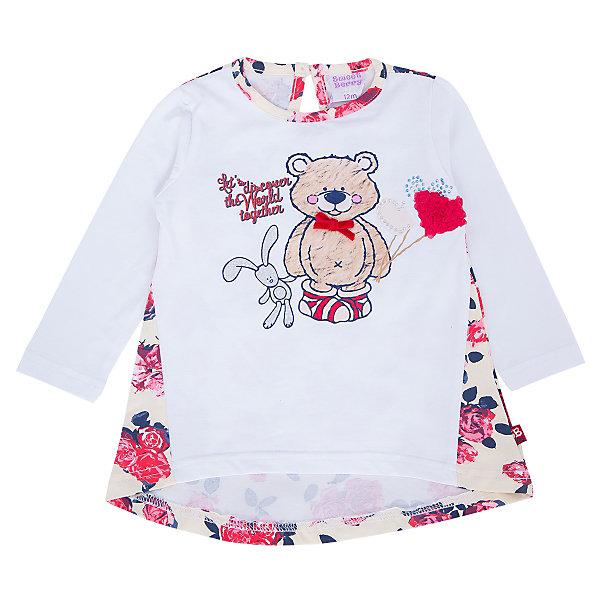 Футболка с длинным рукавом для девочки Sweet BerryФутболки, топы<br>Такая футболка с длинным рукавом для девочки отличается модным дизайном с ярким принтом. Удачный крой обеспечит ребенку комфорт и тепло. Сзади застегивается на пуговицу. Вещь плотно прилегает к телу там, где нужно, и отлично сидит по фигуре.<br>Одежда от бренда Sweet Berry - это простой и выгодный способ одеть ребенка удобно и стильно. Всё изделия тщательно проработаны: швы - прочные, материал - качественный, фурнитура - подобранная специально для детей. <br><br>Дополнительная информация:<br><br>цвет: белый;<br>материал: 95% хлопок, 5% эластан;<br>декорирована принтом.<br><br>Футболку с длинным рукавом для девочки от бренда Sweet Berry можно купить в нашем интернет-магазине.<br><br>Ширина мм: 230<br>Глубина мм: 40<br>Высота мм: 220<br>Вес г: 250<br>Цвет: бежевый<br>Возраст от месяцев: 12<br>Возраст до месяцев: 15<br>Пол: Женский<br>Возраст: Детский<br>Размер: 80,98,92,86<br>SKU: 4931328