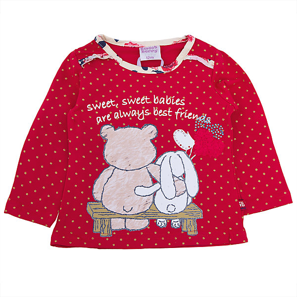 Футболка с длинным рукавом для девочки Sweet BerryФутболки, топы<br>Такая футболка с длинным рукавом для девочки отличается модным дизайном с ярким принтом и воланами. Удачный крой обеспечит ребенку комфорт и тепло. Вещь плотно прилегает к телу там, где нужно, и отлично сидит по фигуре.<br>Одежда от бренда Sweet Berry - это простой и выгодный способ одеть ребенка удобно и стильно. Всё изделия тщательно проработаны: швы - прочные, материал - качественный, фурнитура - подобранная специально для детей. <br><br>Дополнительная информация:<br><br>цвет: бежевый;<br>материал: 95% хлопок, 5% эластан;<br>декорирована принтом.<br><br>Футболку с длинным рукавом для девочки от бренда Sweet Berry можно купить в нашем интернет-магазине.<br>Ширина мм: 230; Глубина мм: 40; Высота мм: 220; Вес г: 250; Цвет: красный; Возраст от месяцев: 12; Возраст до месяцев: 18; Пол: Женский; Возраст: Детский; Размер: 86,98,80,92; SKU: 4931333;