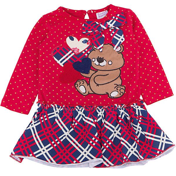Платье для девочки Sweet BerryПлатья и сарафаны<br>Такое платье отличается модным дизайном с принтом и бантом. Удачный крой обеспечит ребенку комфорт и тепло. Плотный материал делает вещь идеальной для прохладной погоды. Она хорошо прилегает к телу там, где нужно, и отлично сидит по фигуре. Натуральный хлопок в составе трикотажа обеспечит коже возможность дышать и не вызовет аллергии.<br>Одежда от бренда Sweet Berry - это простой и выгодный способ одеть ребенка удобно и стильно. Всё изделия тщательно проработаны: швы - прочные, материал - качественный, фурнитура - подобранная специально для детей.<br><br>Дополнительная информация:<br><br>цвет: красный;<br>состав: 95% хлопок, 5% эластан;<br>декорировано принтом и бантом.<br><br>Платье для девочки от бренда Sweet Berry можно купить в нашем интернет-магазине.<br><br>Ширина мм: 236<br>Глубина мм: 16<br>Высота мм: 184<br>Вес г: 177<br>Цвет: красный<br>Возраст от месяцев: 12<br>Возраст до месяцев: 15<br>Пол: Женский<br>Возраст: Детский<br>Размер: 80,98,92,86<br>SKU: 4931343