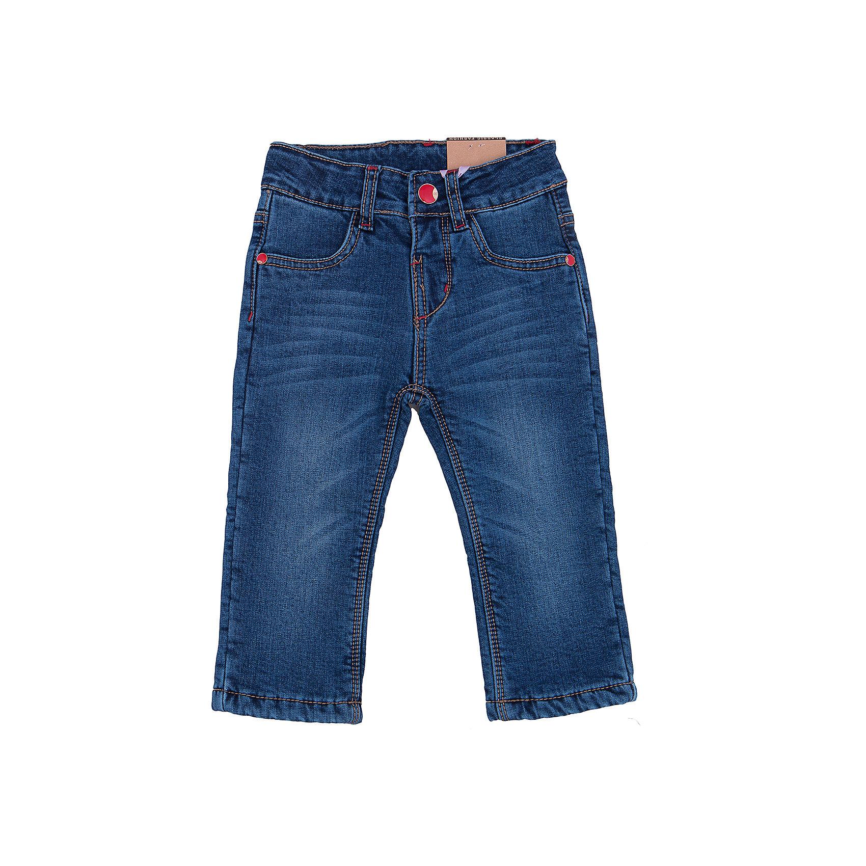 Джинсы для девочки Sweet BerryДжинсовая одежда<br>Такая модель джинсов для девочки отличается модным дизайном с контрастной прострочкой и потертостями. Удачный крой обеспечит ребенку комфорт и тепло. Мягкая и теплая флисовая подкладка делает вещь идеальной для прохладной погоды. Она плотно прилегает к телу там, где нужно, и отлично сидит по фигуре. Джинсы имеют удобный пояс на пуговице и молнии. Натуральный хлопок обеспечит коже возможность дышать и не вызовет аллергии.<br>Одежда от бренда Sweet Berry - это простой и выгодный способ одеть ребенка удобно и стильно. Всё изделия тщательно проработаны: швы - прочные, материал - качественный, фурнитура - подобранная специально для детей. <br><br>Дополнительная информация:<br><br>цвет: синий;<br>имитация потертостей;<br>материал: верх - 98% хлопок, 2% эластан, подкладка - 100% полиэстер;<br>пояс на пуговице и молнии.<br><br>Джинсы для девочки от бренда Sweet Berry можно купить в нашем интернет-магазине.<br><br>Ширина мм: 215<br>Глубина мм: 88<br>Высота мм: 191<br>Вес г: 336<br>Цвет: синий<br>Возраст от месяцев: 12<br>Возраст до месяцев: 15<br>Пол: Женский<br>Возраст: Детский<br>Размер: 80,86,92,98<br>SKU: 4931368