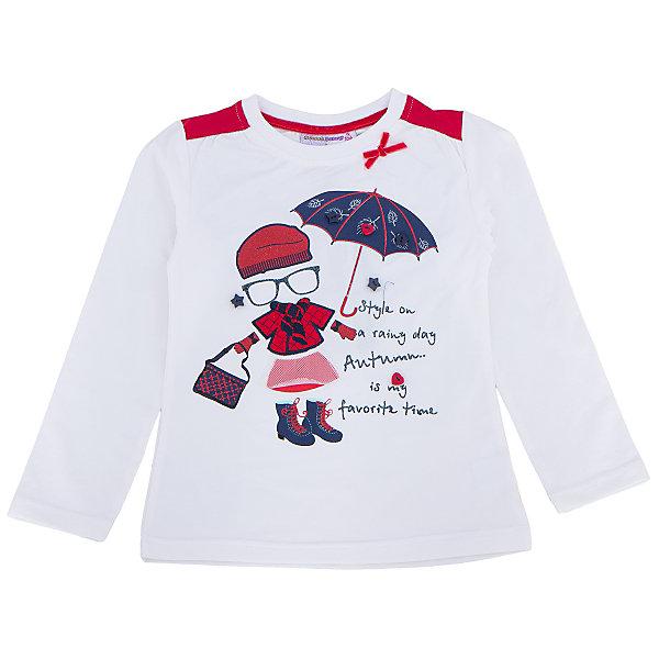 Футболка с длинным рукавом для девочки Sweet BerryФутболки с длинным рукавом<br>Эта футболка с длинным рукавом для девочки отличается модным дизайном с ярким принтом. Удачный крой обеспечит ребенку комфорт и тепло. Вещь плотно прилегает к телу там, где нужно, и отлично сидит по фигуре.<br>Одежда от бренда Sweet Berry - это простой и выгодный способ одеть ребенка удобно и стильно. Всё изделия тщательно проработаны: швы - прочные, материал - качественный, фурнитура - подобранная специально для детей. <br><br>Дополнительная информация:<br><br>цвет: белый;<br>материал: 95% хлопок, 5% эластан;<br>декорирована принтом и аппликацией.<br><br>Футболку с длинным рукавом для девочки от бренда Sweet Berry можно купить в нашем интернет-магазине.<br>Ширина мм: 230; Глубина мм: 40; Высота мм: 220; Вес г: 250; Цвет: белый; Возраст от месяцев: 48; Возраст до месяцев: 60; Пол: Женский; Возраст: Детский; Размер: 110,104,98,128,122,116; SKU: 4931462;