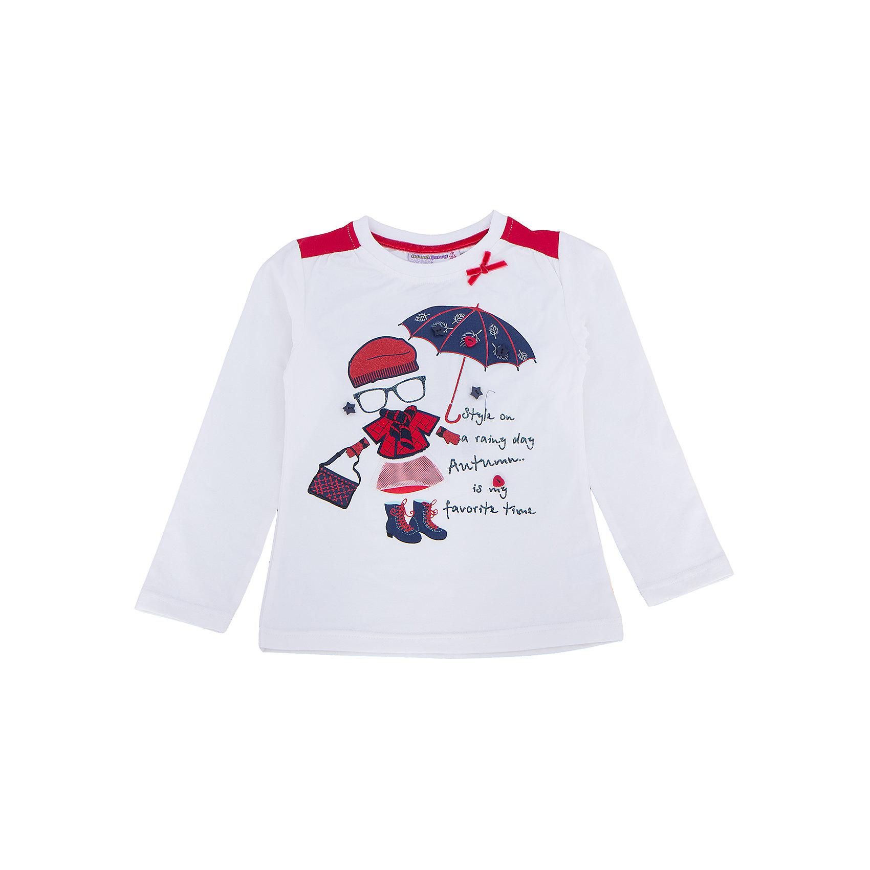 Футболка с длинным рукавом для девочки Sweet BerryФутболки с длинным рукавом<br>Эта футболка с длинным рукавом для девочки отличается модным дизайном с ярким принтом. Удачный крой обеспечит ребенку комфорт и тепло. Вещь плотно прилегает к телу там, где нужно, и отлично сидит по фигуре.<br>Одежда от бренда Sweet Berry - это простой и выгодный способ одеть ребенка удобно и стильно. Всё изделия тщательно проработаны: швы - прочные, материал - качественный, фурнитура - подобранная специально для детей. <br><br>Дополнительная информация:<br><br>цвет: белый;<br>материал: 95% хлопок, 5% эластан;<br>декорирована принтом и аппликацией.<br><br>Футболку с длинным рукавом для девочки от бренда Sweet Berry можно купить в нашем интернет-магазине.<br><br>Ширина мм: 230<br>Глубина мм: 40<br>Высота мм: 220<br>Вес г: 250<br>Цвет: белый<br>Возраст от месяцев: 24<br>Возраст до месяцев: 36<br>Пол: Женский<br>Возраст: Детский<br>Размер: 98,104,110,116,122,128<br>SKU: 4931462