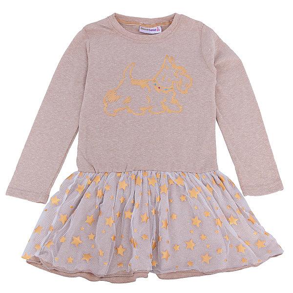 Платье для девочки Sweet BerryПлатья и сарафаны<br>Такое платье отличается модным дизайном с принтом и пышным подолом. Удачный крой обеспечит ребенку комфорт и тепло. Плотный материал делает вещь идеальной для прохладной погоды. Она хорошо прилегает к телу там, где нужно, и отлично сидит по фигуре. Натуральный хлопок всоставе материала обеспечит коже возможность дышать и не вызовет аллергии.<br>Одежда от бренда Sweet Berry - это простой и выгодный способ одеть ребенка удобно и стильно. Всё изделия тщательно проработаны: швы - прочные, материал - качественный, фурнитура - подобранная специально для детей.<br><br>Дополнительная информация:<br><br>цвет: бежевый;<br>состав: трикотаж -75% хлопок, 20% вискоза, 5% эластан;<br>декорировано принтом и юбкой из сетки с золотыми звездами.<br><br>Платье для девочки от бренда Sweet Berry можно купить в нашем интернет-магазине.<br>Ширина мм: 236; Глубина мм: 16; Высота мм: 184; Вес г: 177; Цвет: бежевый; Возраст от месяцев: 36; Возраст до месяцев: 48; Пол: Женский; Возраст: Детский; Размер: 104,98,128,122,116,110; SKU: 4931497;