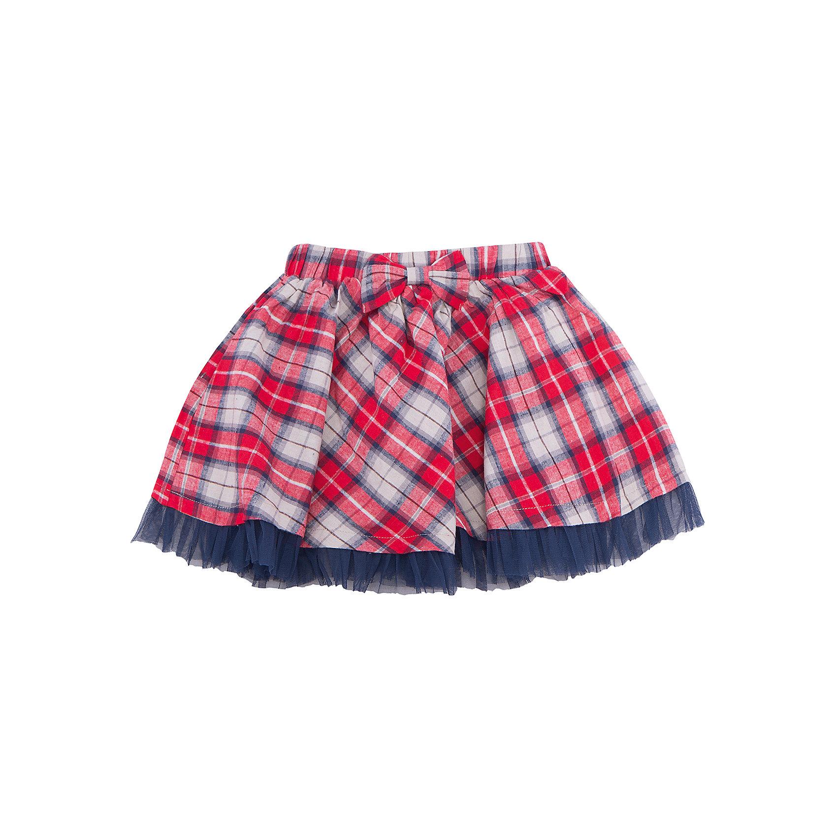 Юбка для девочки Sweet BerryЮбки<br>Эта юбка отличается модным дизайном с нижней юбкой из сетки.. Удачный крой обеспечит ребенку комфорт и тепло. Плотный материал делает вещь идеальной для разной погоды. Она хорошо прилегает к телу там, где нужно, и отлично сидит на ребенке. Натуральный хлопок обеспечит коже возможность дышать и не вызовет аллергии. На поясе юбки - симпатичный бант.<br>Одежда от бренда Sweet Berry - это простой и выгодный способ одеть ребенка удобно и стильно. Всё изделия тщательно проработаны: швы - прочные, материал - качественный, фурнитура - подобранная специально для детей.<br><br>Дополнительная информация:<br><br>цвет: клетка;<br>состав: верх - 100% хлопок, низ - 100% полиэстер;<br>на поясе - бант.<br><br>Юбку для девочки от бренда Sweet Berry можно купить в нашем интернет-магазине.<br><br>Ширина мм: 207<br>Глубина мм: 10<br>Высота мм: 189<br>Вес г: 183<br>Цвет: красный<br>Возраст от месяцев: 24<br>Возраст до месяцев: 36<br>Пол: Женский<br>Возраст: Детский<br>Размер: 98,104,110,116,122,128<br>SKU: 4931504